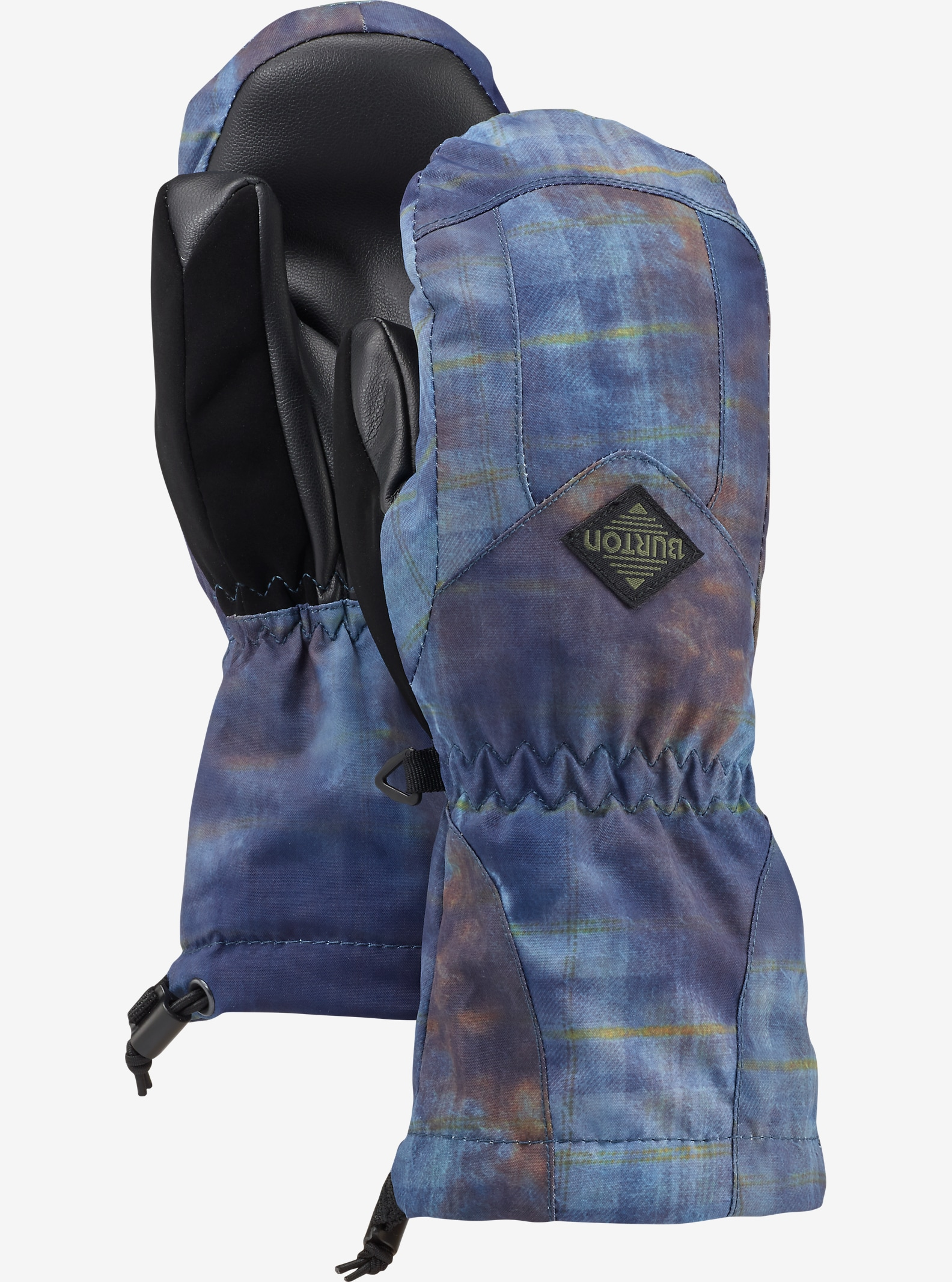 Burton Kids' Profile Mitt shown in Thunder Plaid
