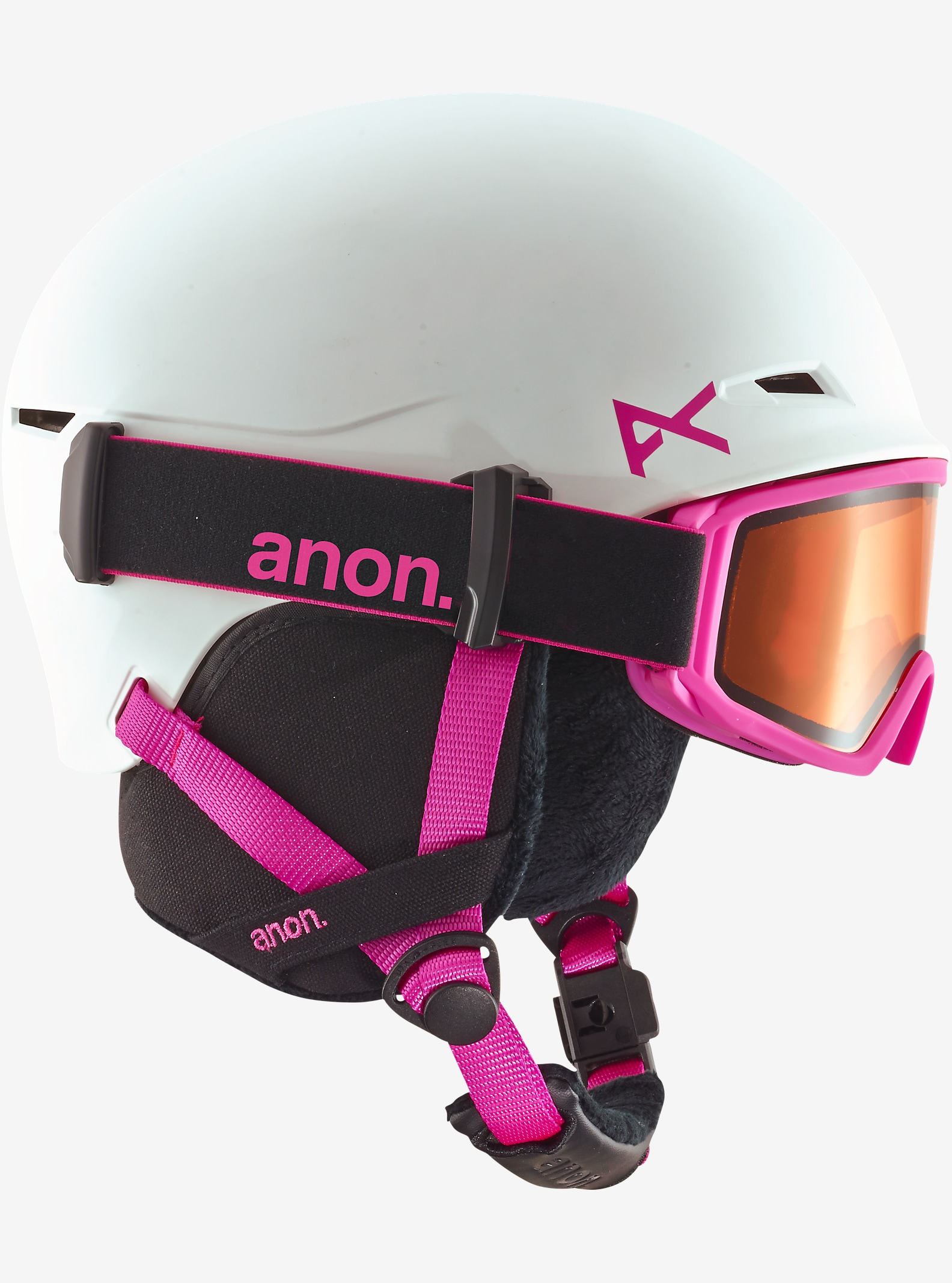 anon. Girls' Define Helmet shown in White / Pink