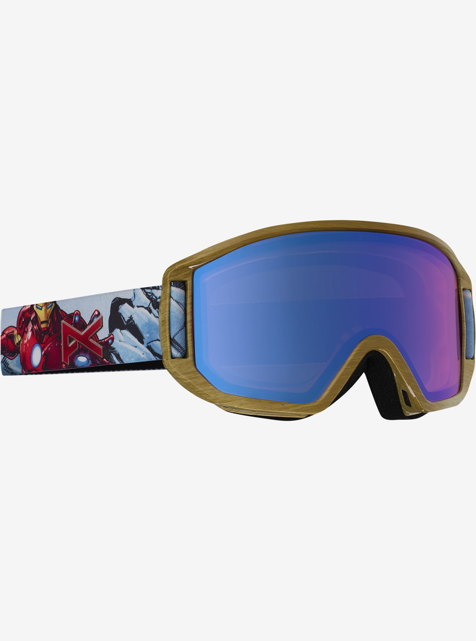 Marvel® x anon. Relapse Jr. Goggle shown in Frame: Iron Man™ © 2016 MARVEL, Lens: Blue Amber