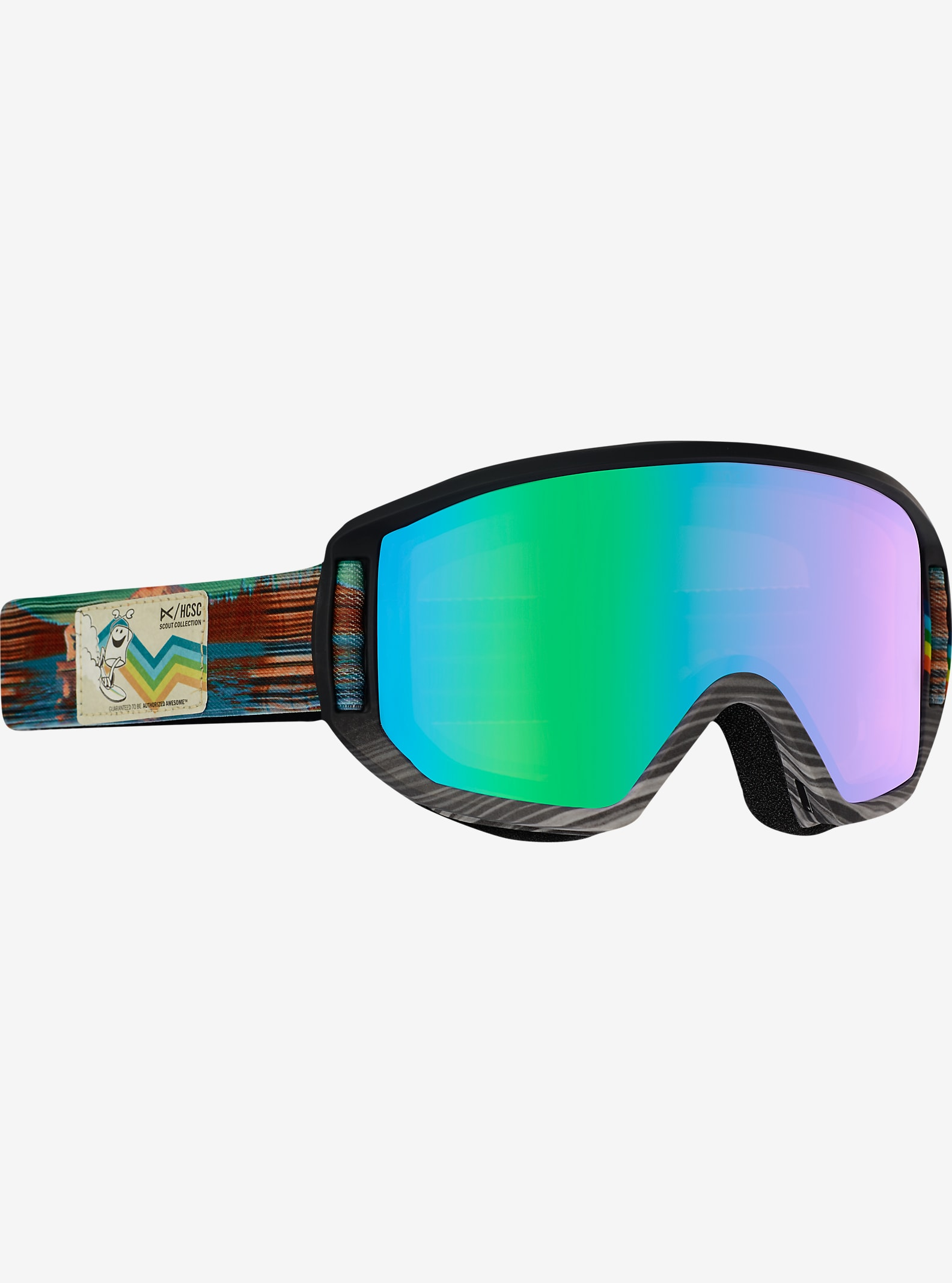 HCSC x anon. Relapse Jr. Goggle shown in Frame: HCSC, Lens: Green Solex