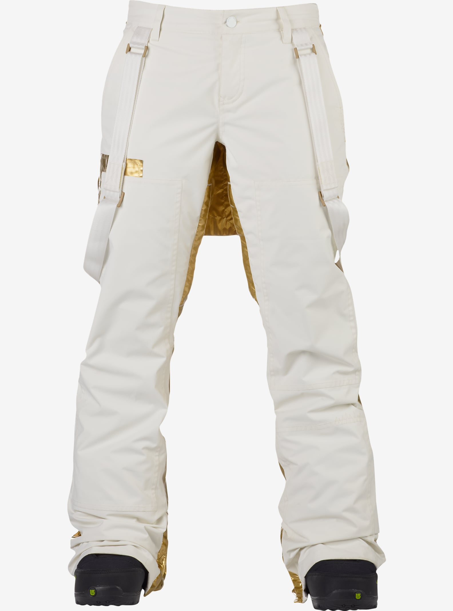 L.A.M.B. x Burton Johnny Pant shown in Stout White / Gold