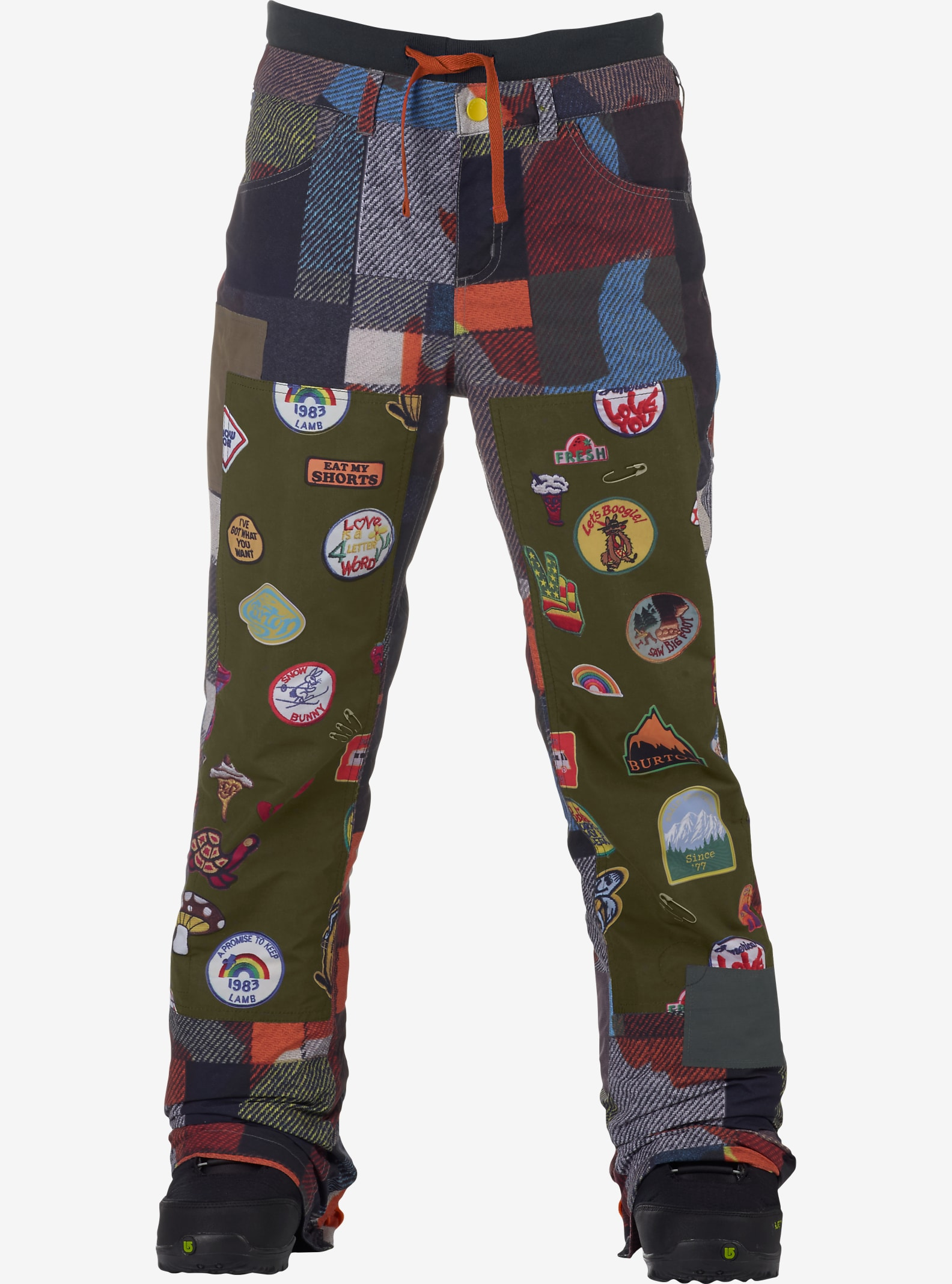 L.A.M.B. x Burton Buju Cargo Pant shown in Camo Plaid
