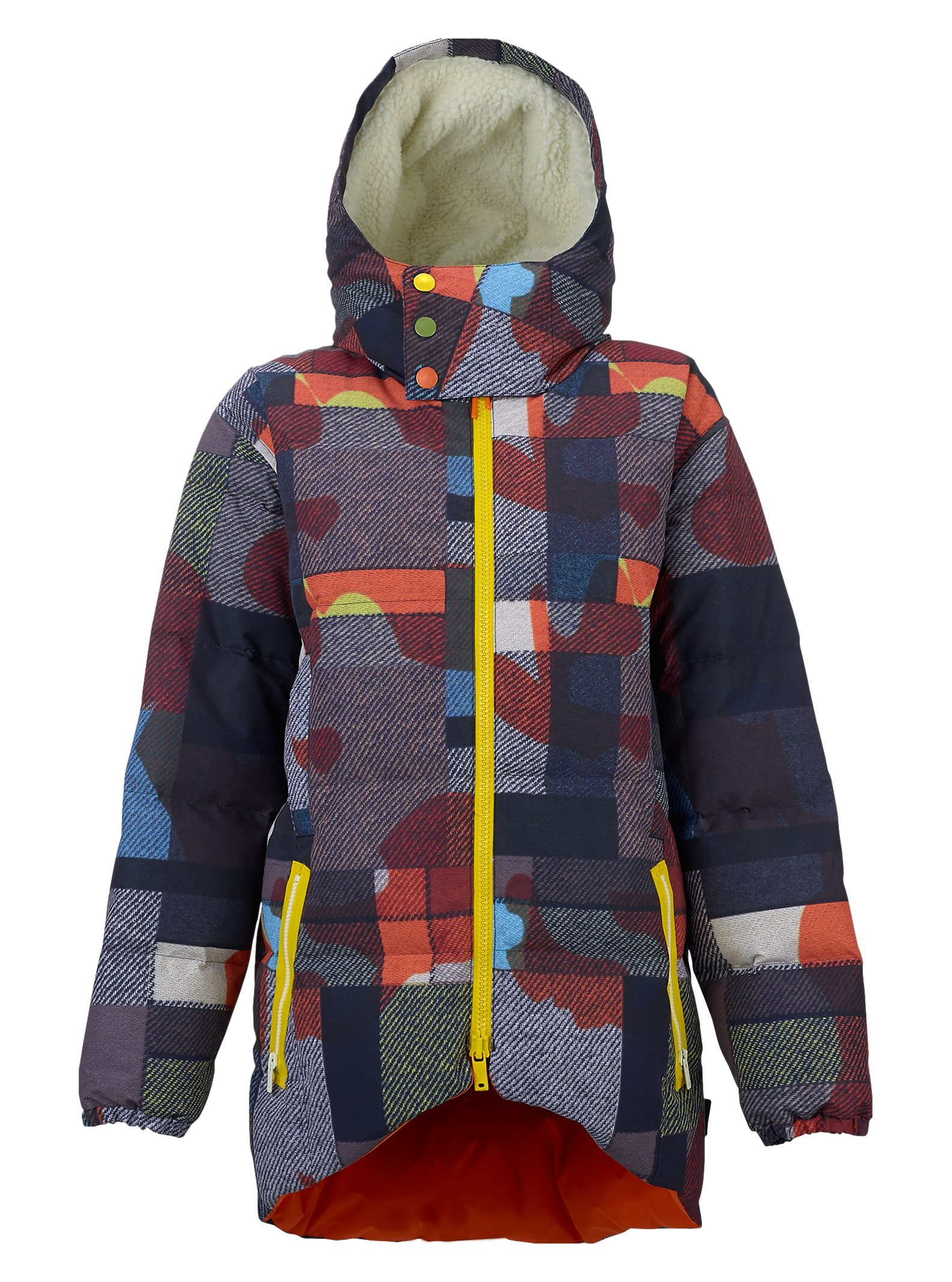 L.A.M.B. x Burton Bolan Down Jacket shown in Camo Plaid