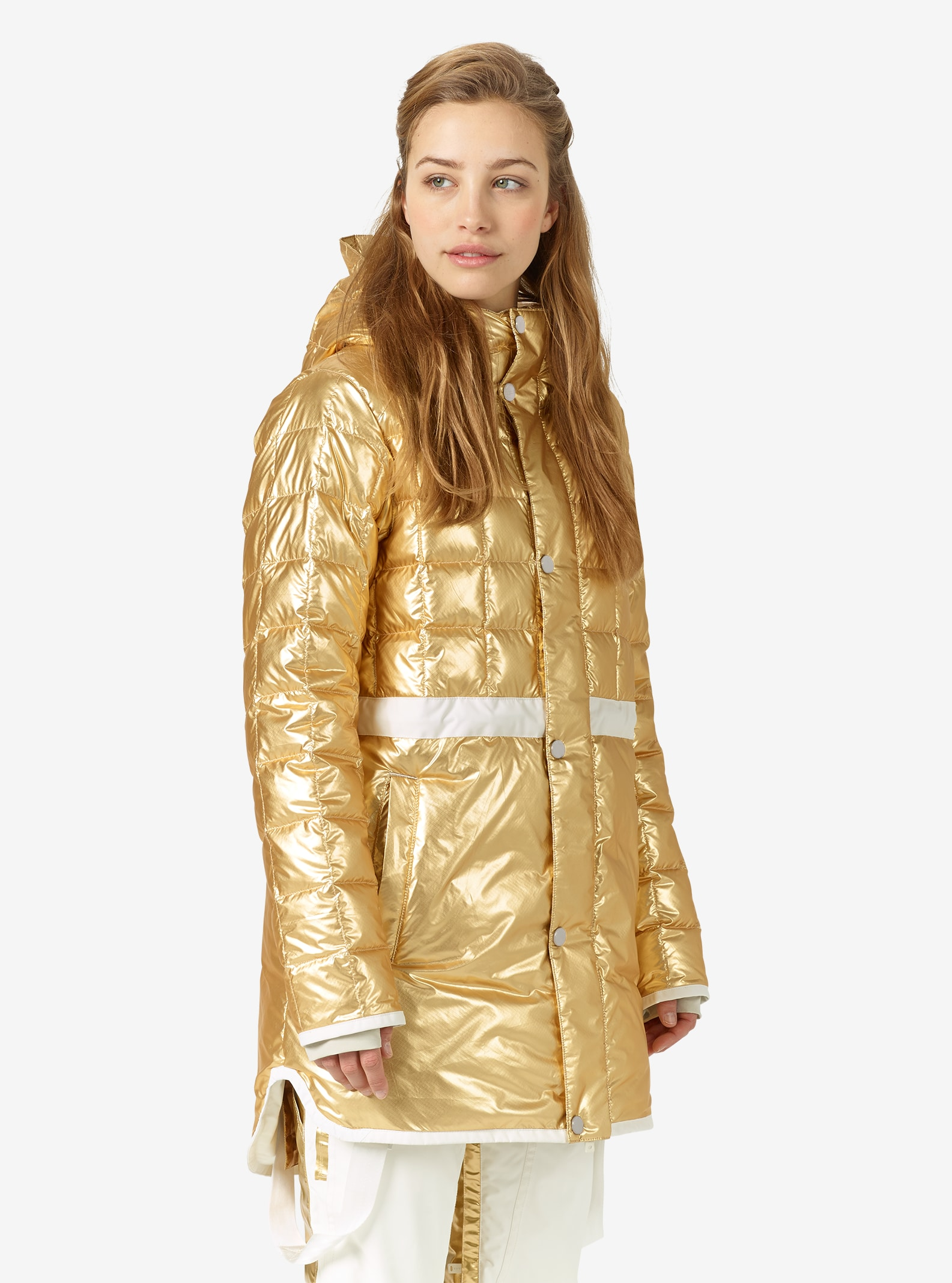 L.A.M.B. x Burton The Alice Insulator Jacket shown in Gold