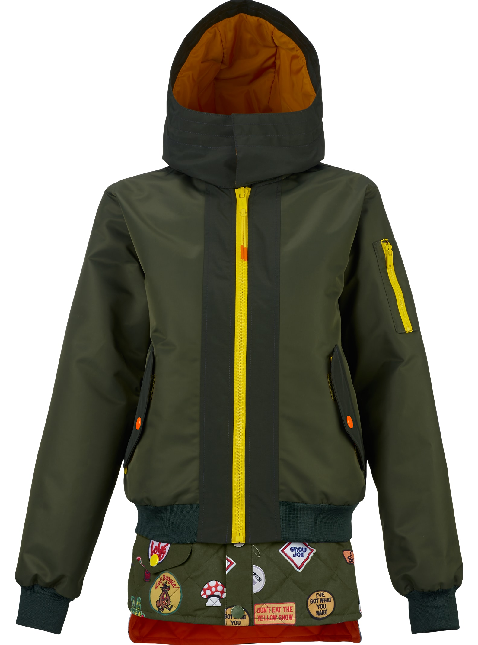 L.A.M.B. x Burton Cherry Bomber Jacket shown in Dusty Olive / Army Green
