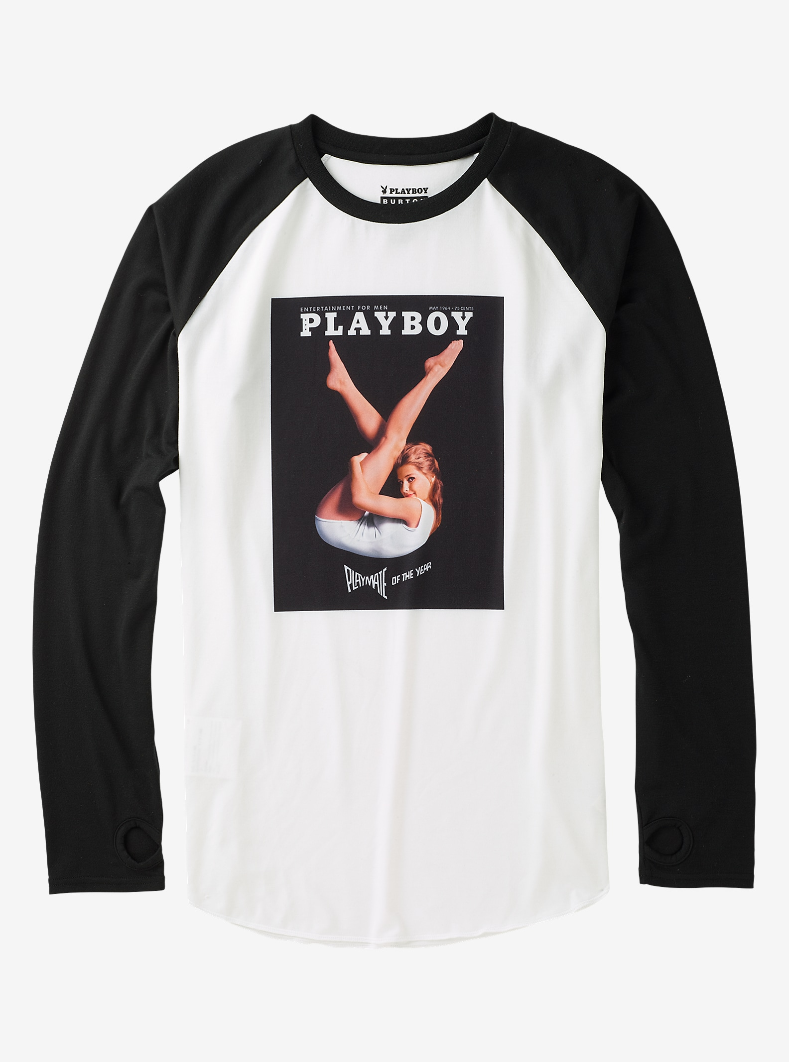 Burton x Playboy Roadie Tech Tee shown in Playboy 1964