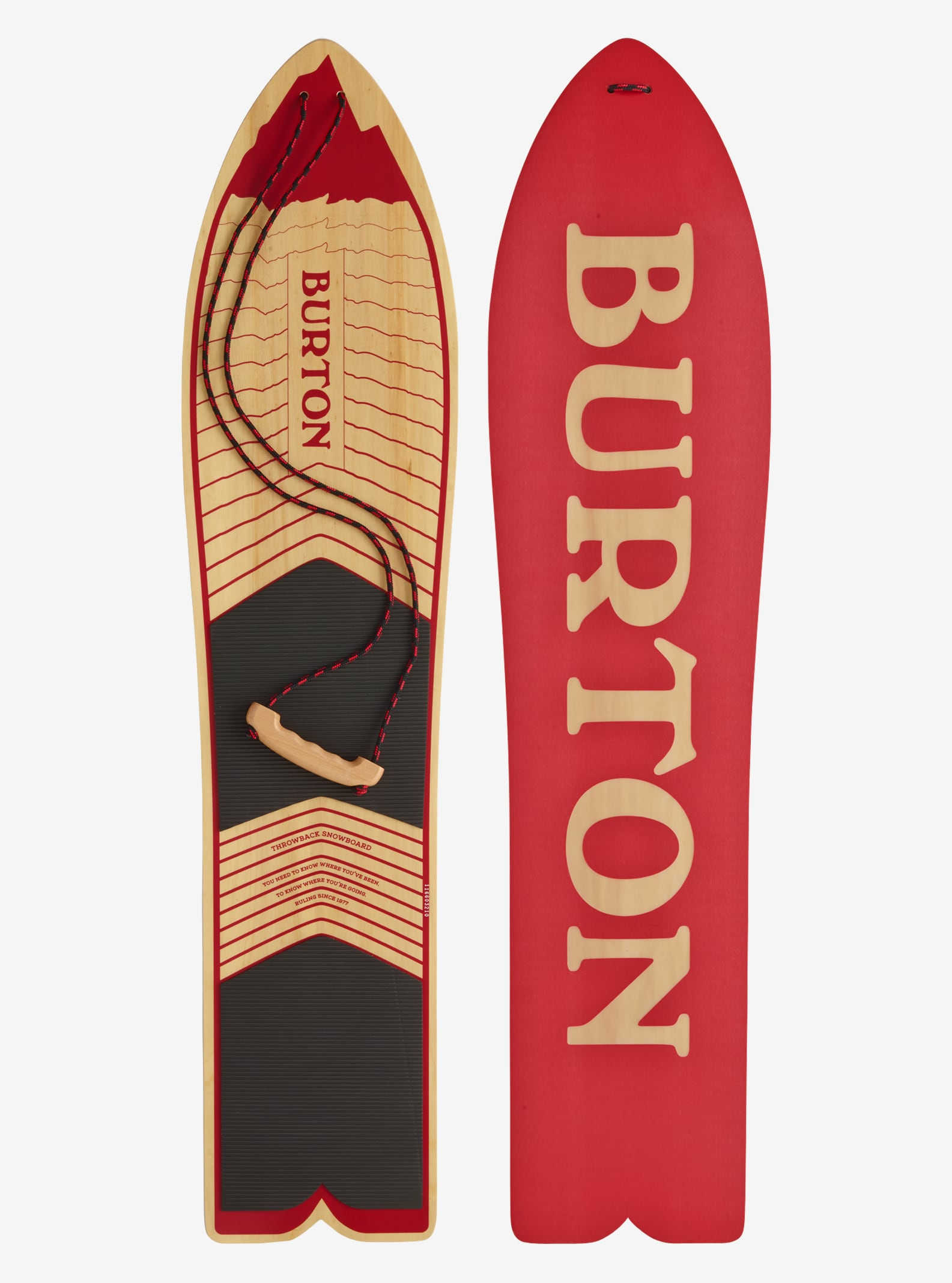 Burton The Throwback Snowboard shown in 100