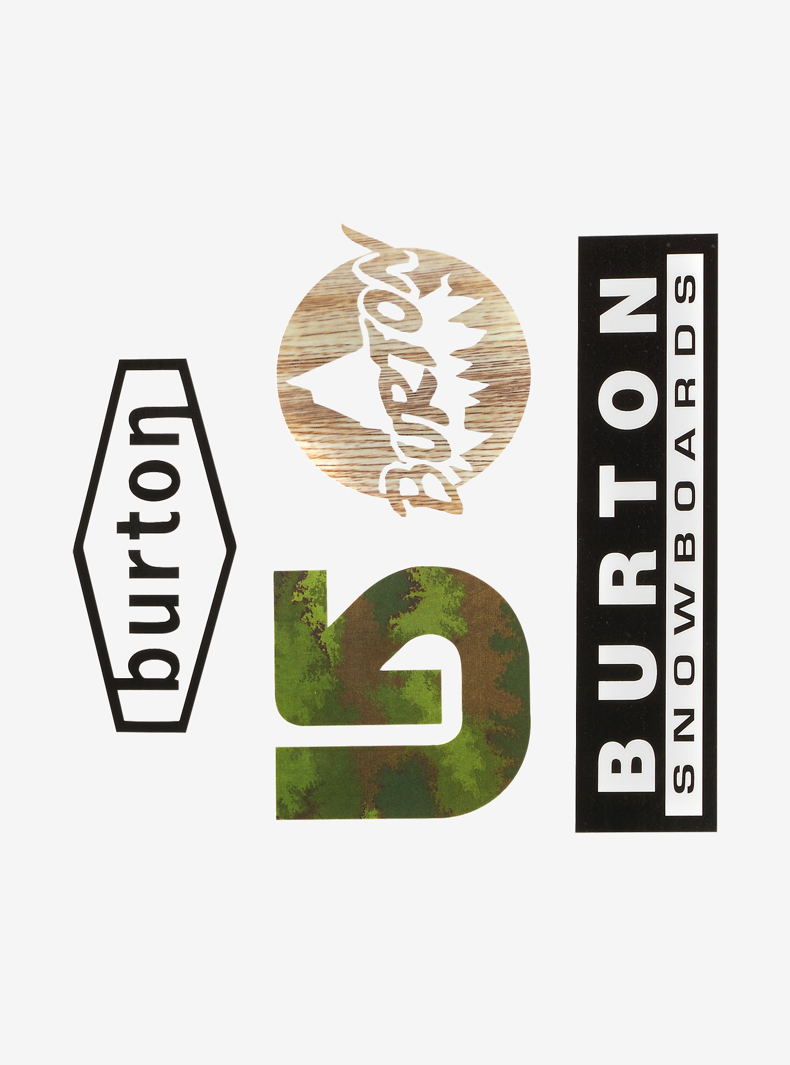 Burton Throwback Sticker Pack shown in NA