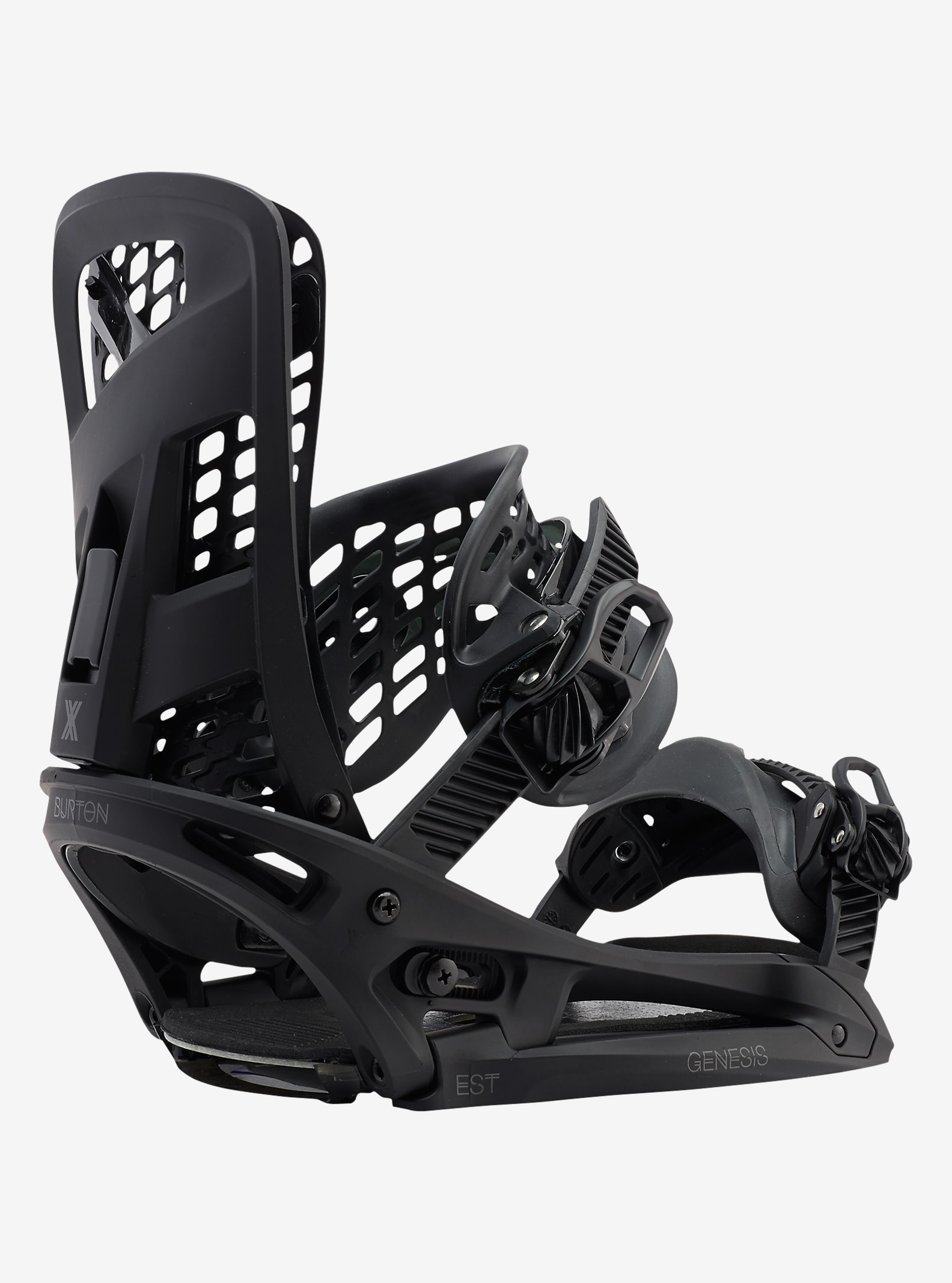 Burton Genesis X EST Snowboard Binding shown in Black