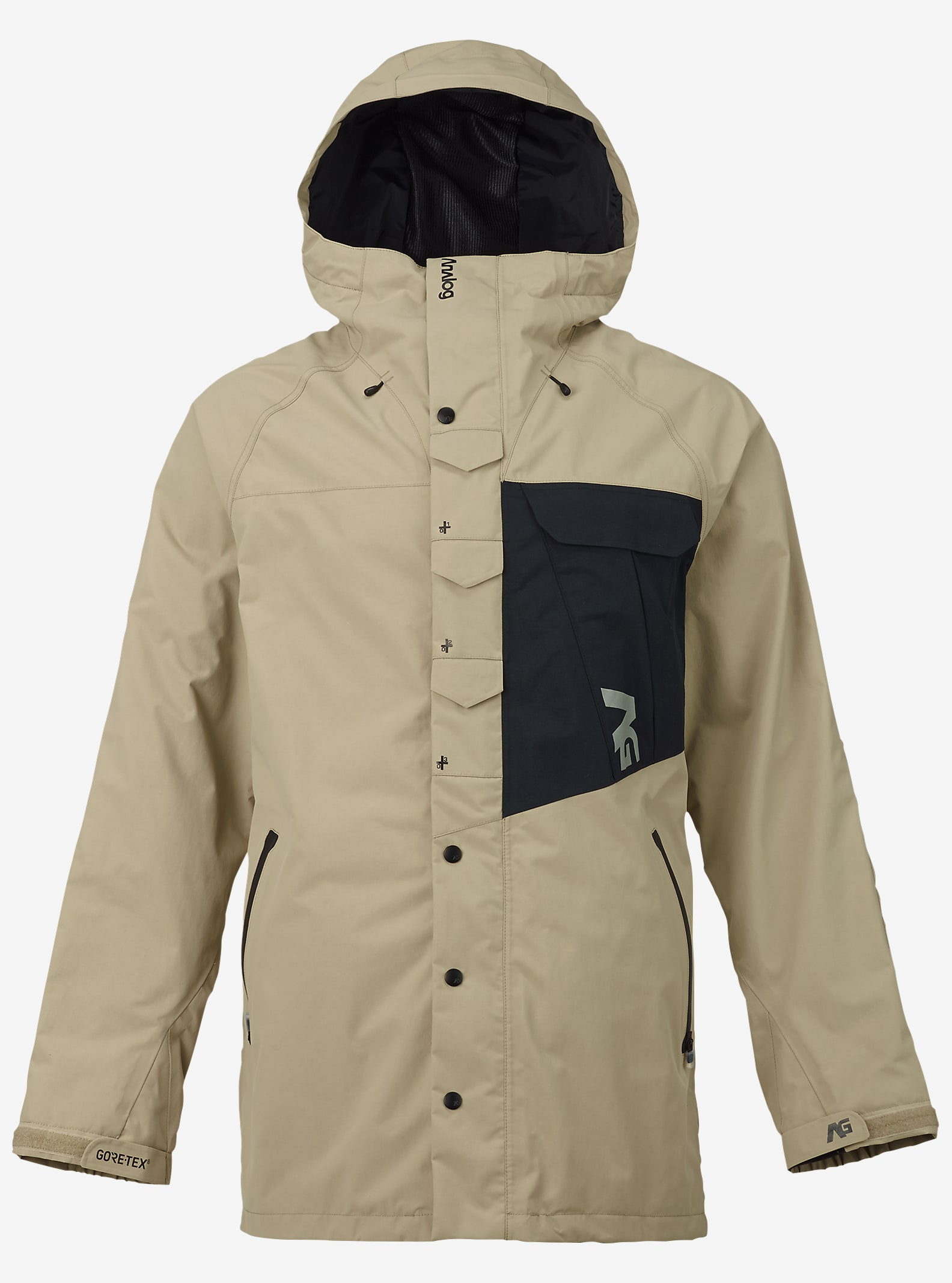 Analog Zenith GORE-TEX® Snowboard Jacket shown in Putty / True Black