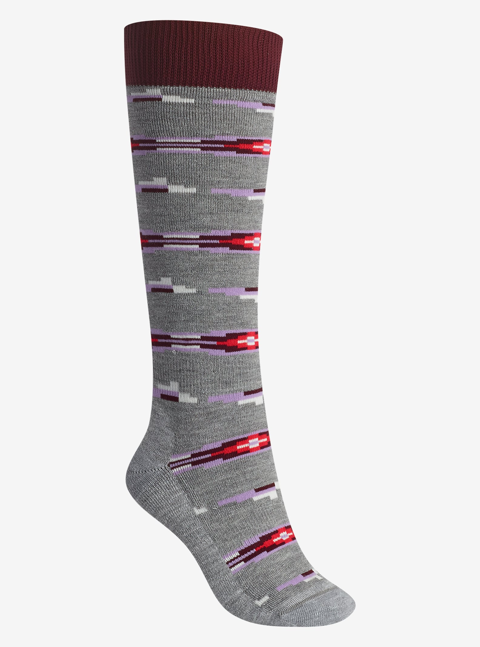 Burton Shadow Sock shown in Heather Iron Gray