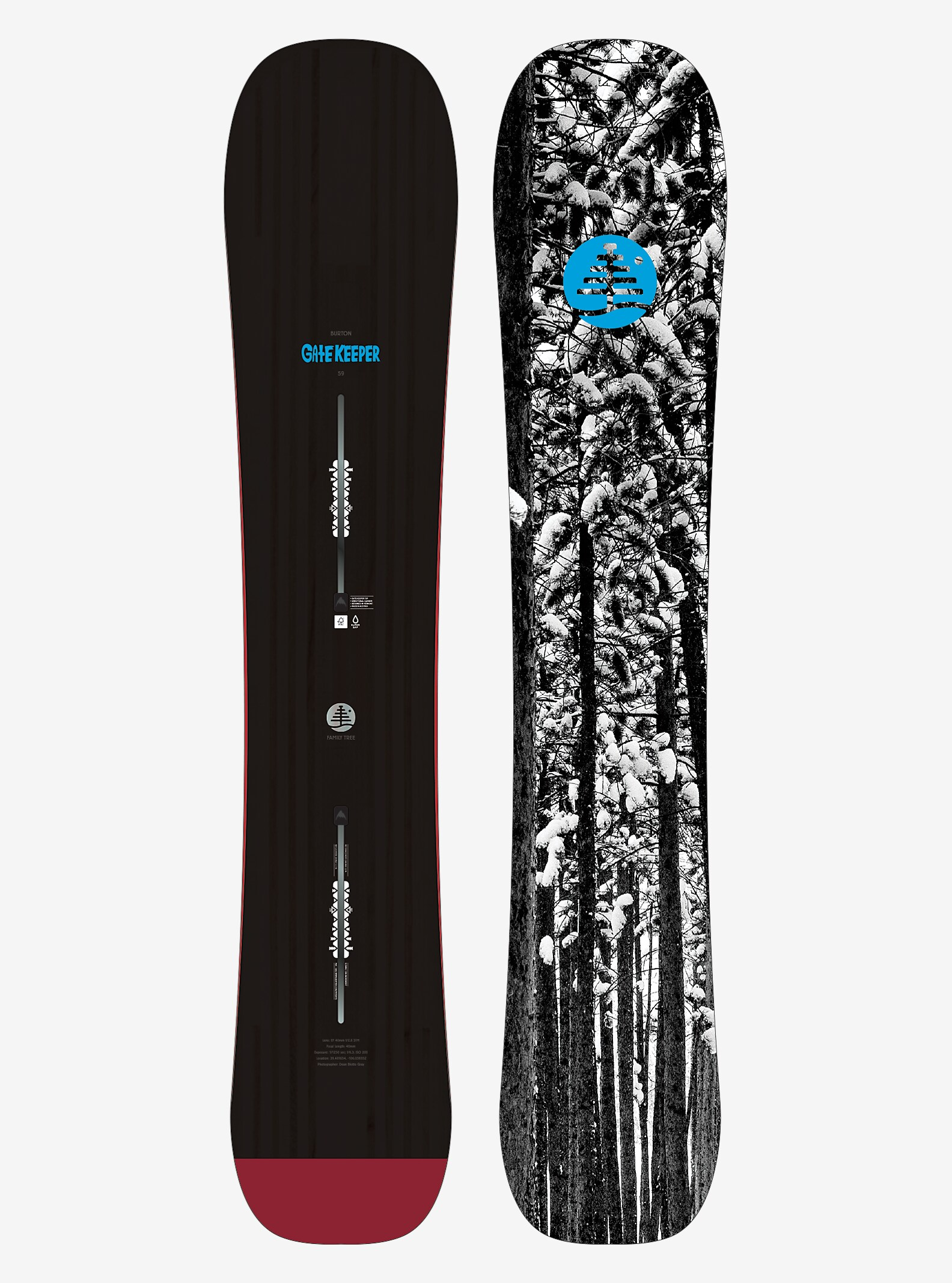Burton Family Tree Gate Keeper Snowboard shown in 159
