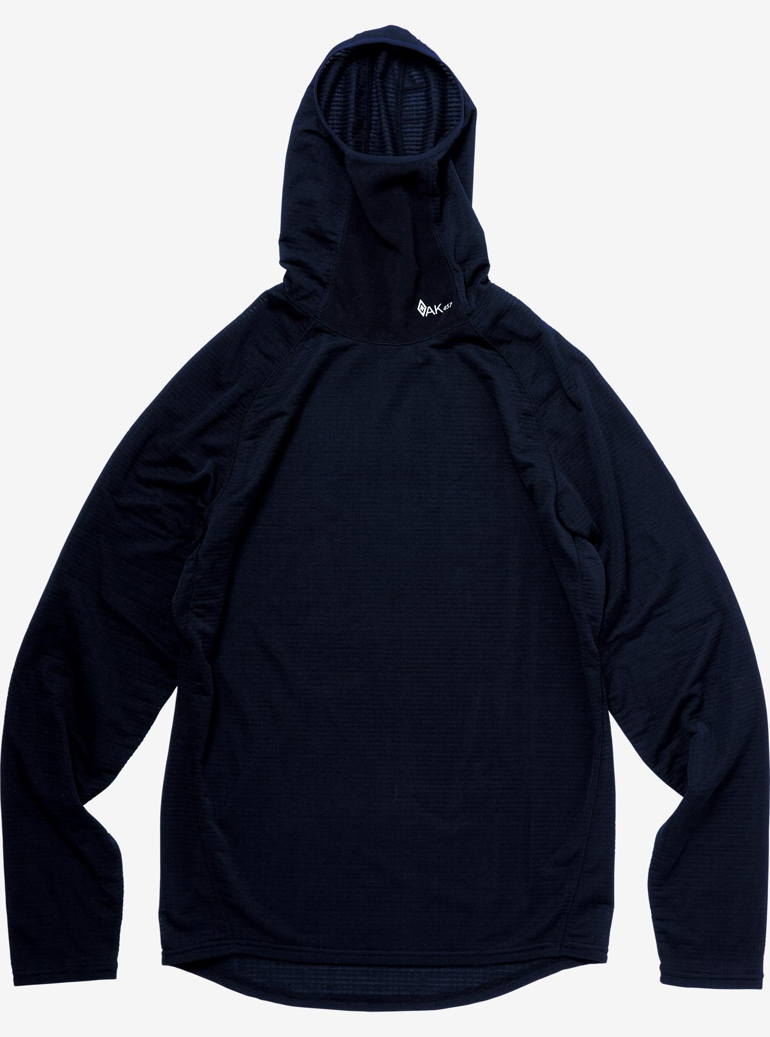 Burton AK457 Base Layer Hi Neck Fleece Top shown in True Black