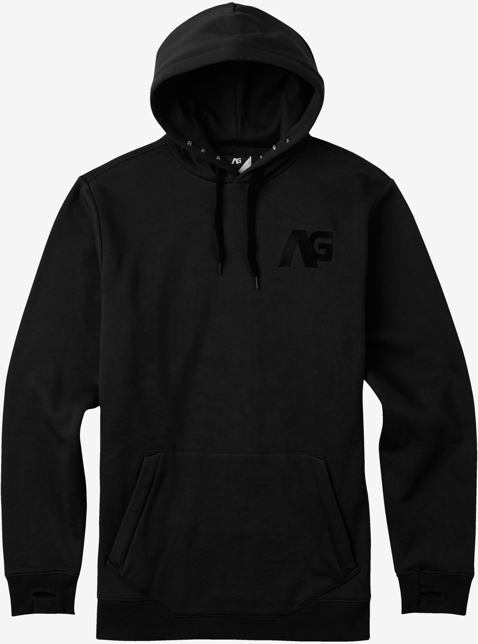 Analog Crux Hoodie shown in True Black