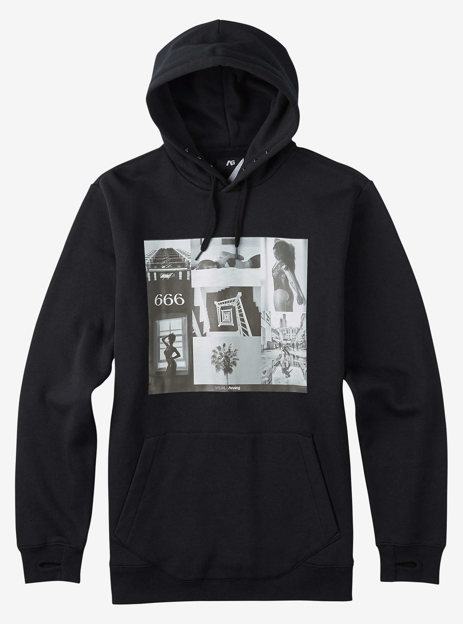 Analog Filter Hoodie shown in True Black PLA I