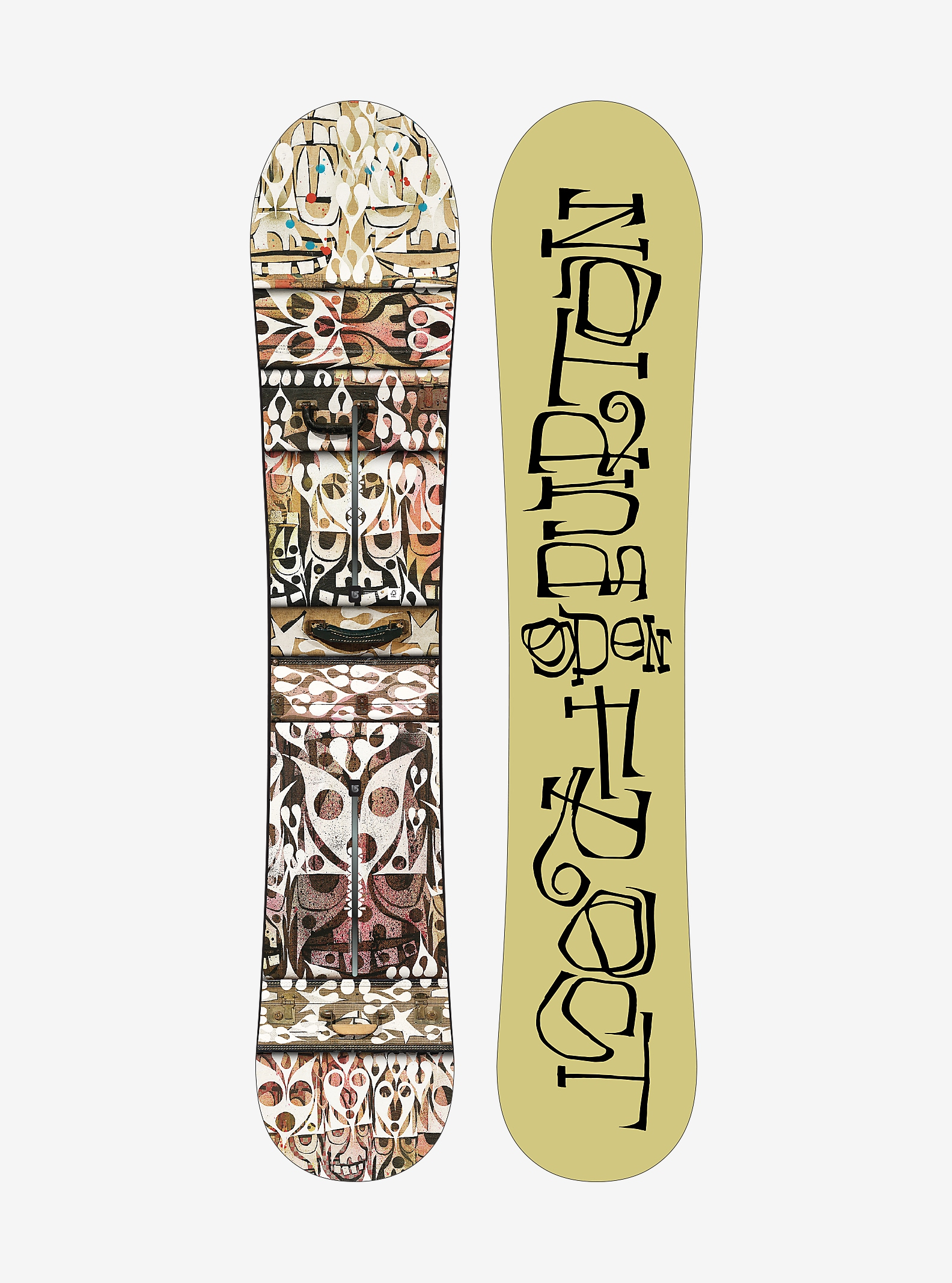 Phil Frost × G Pen × Burton Barracuda Snowboard shown in 157