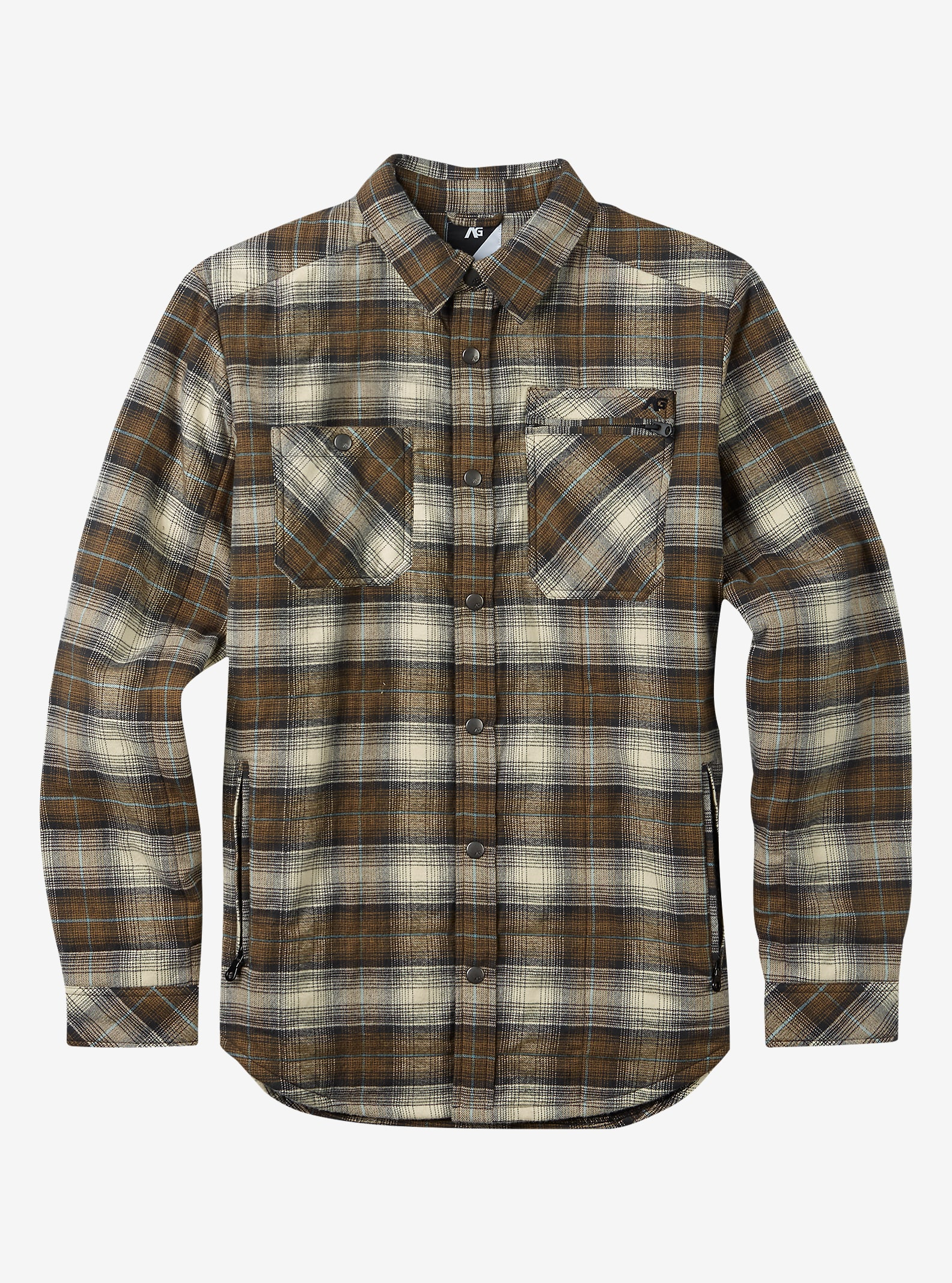 Analog Bowery Quilted Flannel shown in Masonite
