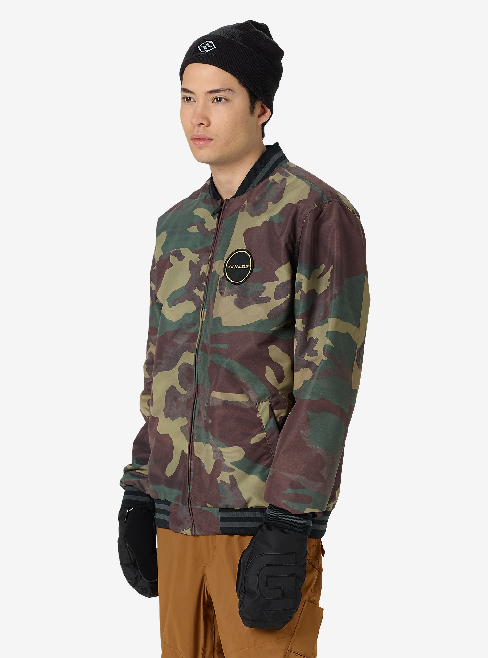 Analog League Jacket shown in Surplus Camo