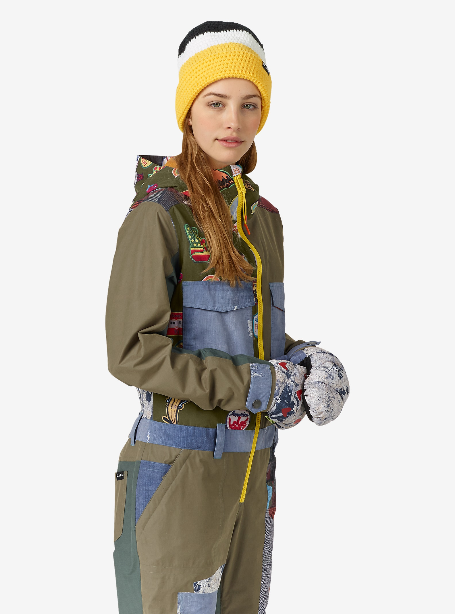 L.A.M.B. x Burton Suzi Overall angezeigt in Dusty Olive