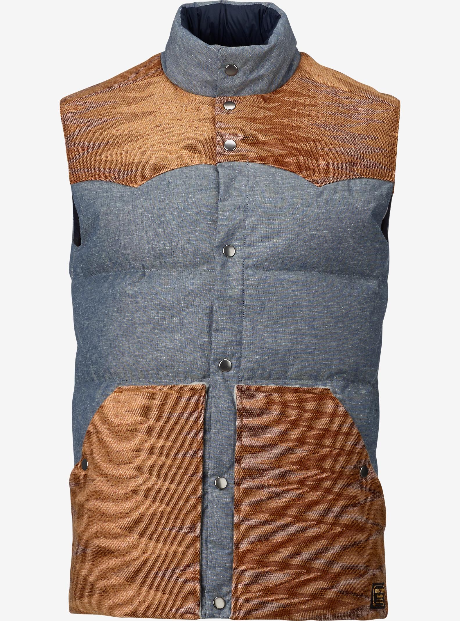 Burton Wayward Vest shown in Chambray / Shiprock