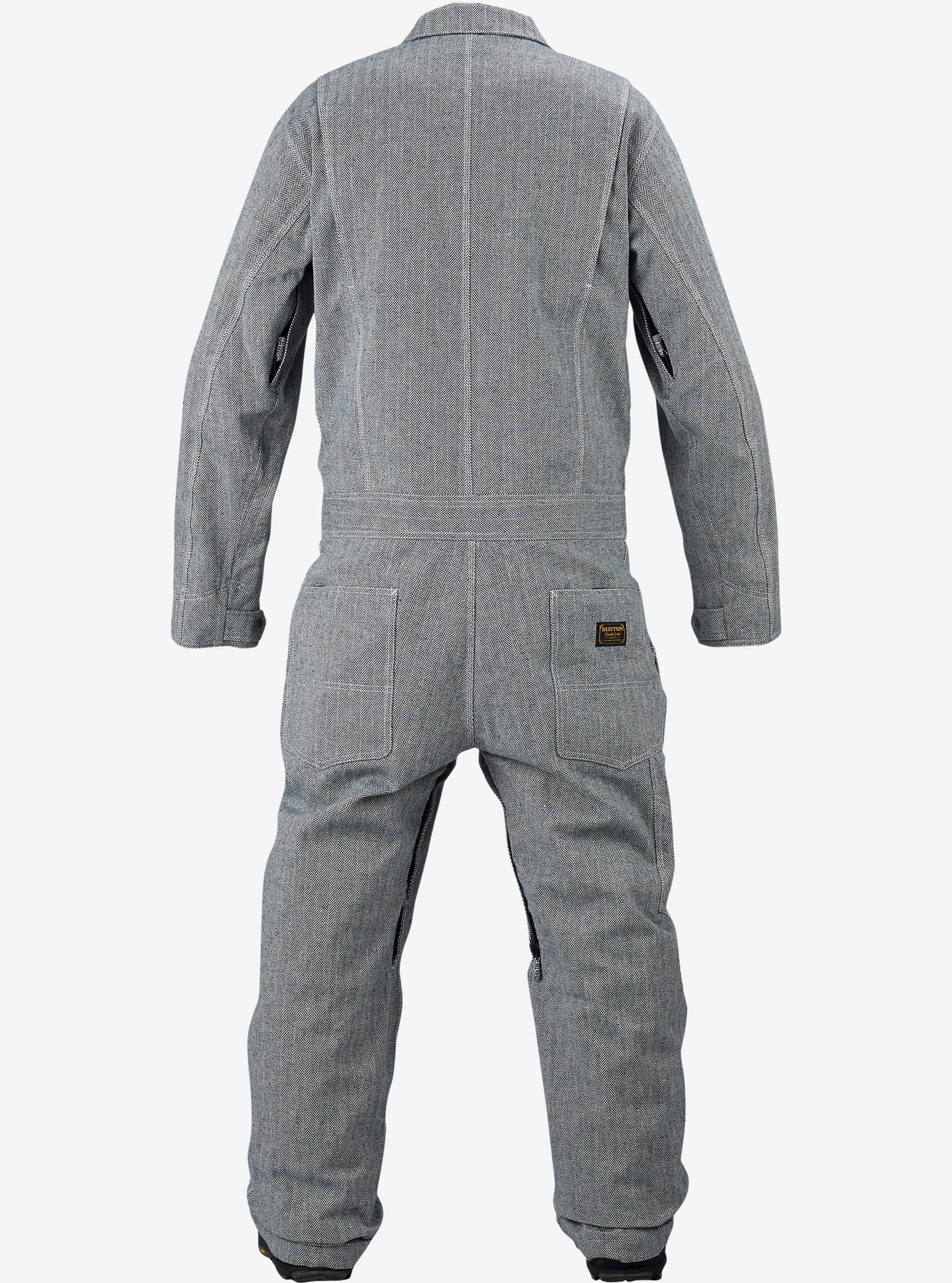 Burton Irwin Coverall shown in Indigo Herringbone