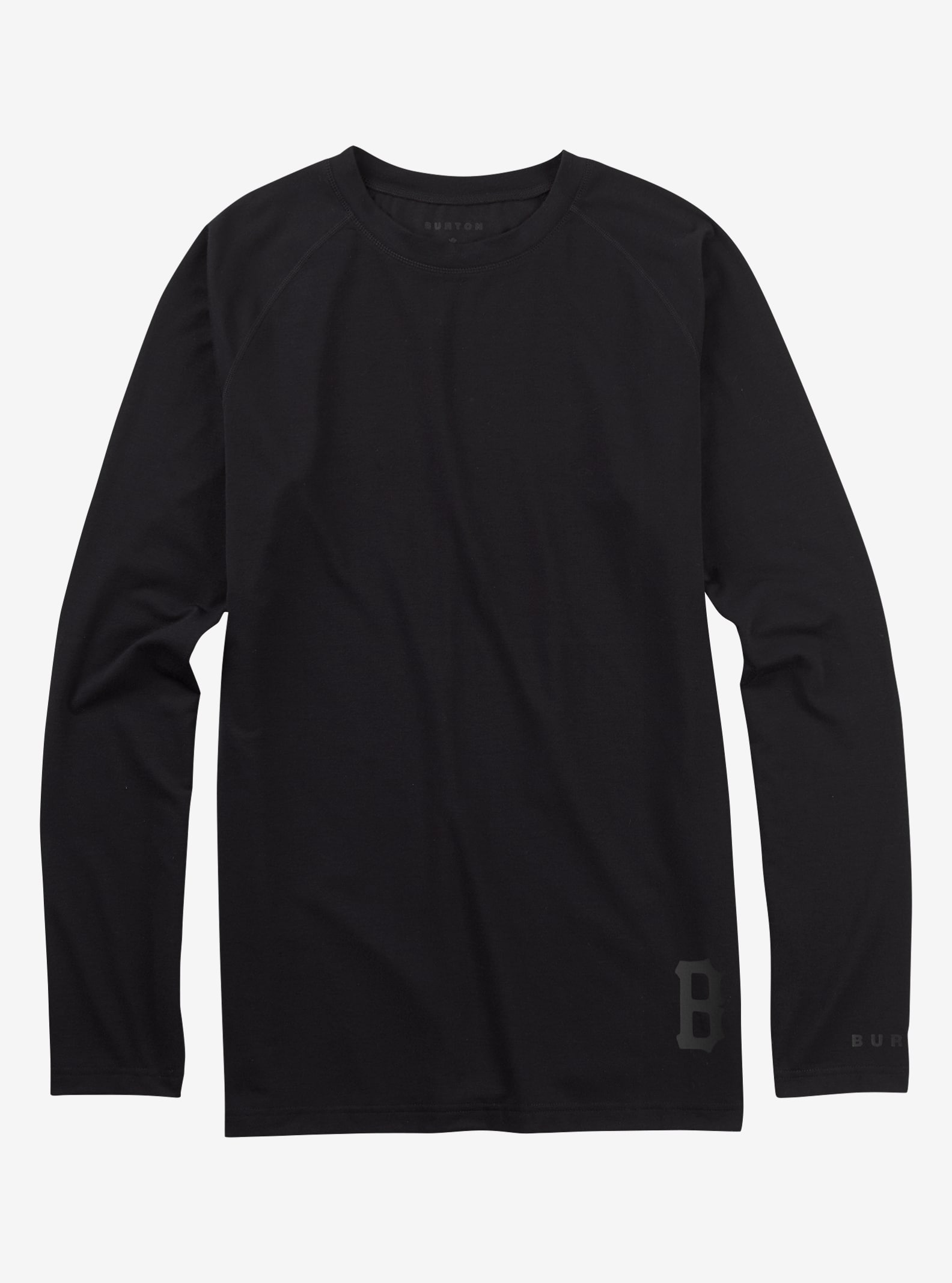 Black Scale x Burton Rescue Base Layer Tech Tee shown in Black Scale Black