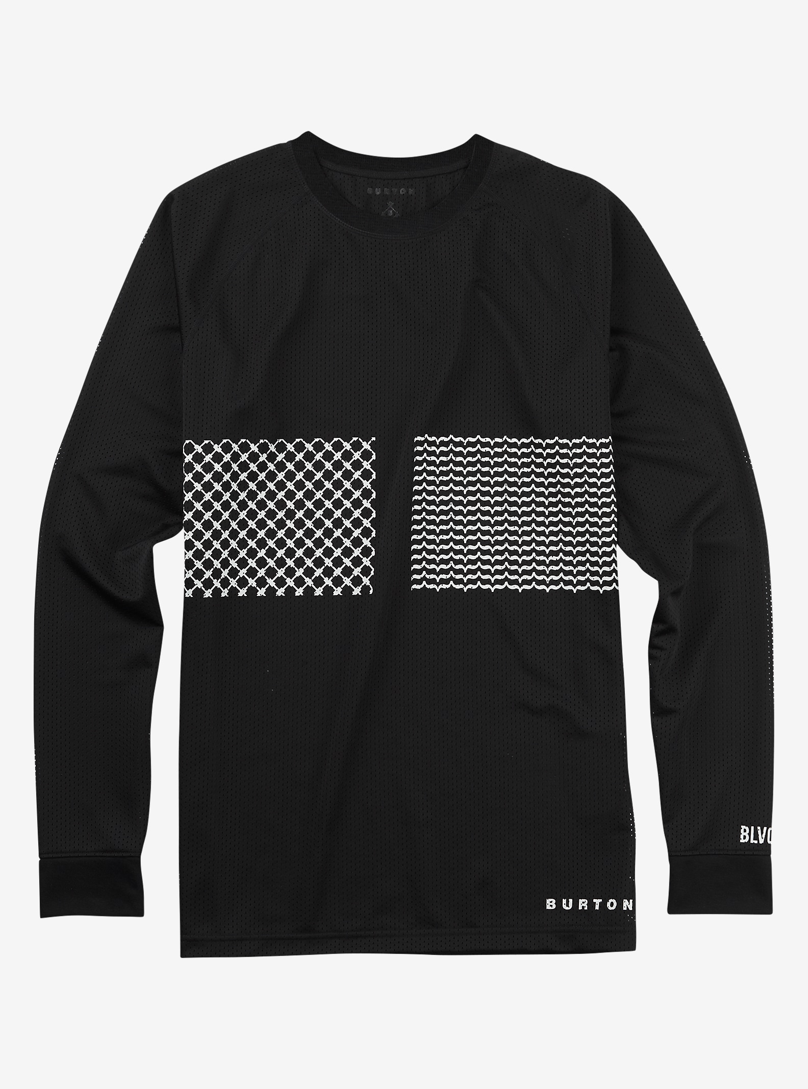 Black Scale x Burton Ransom Mesh Base Layer Tech Tee shown in Black Scale Black