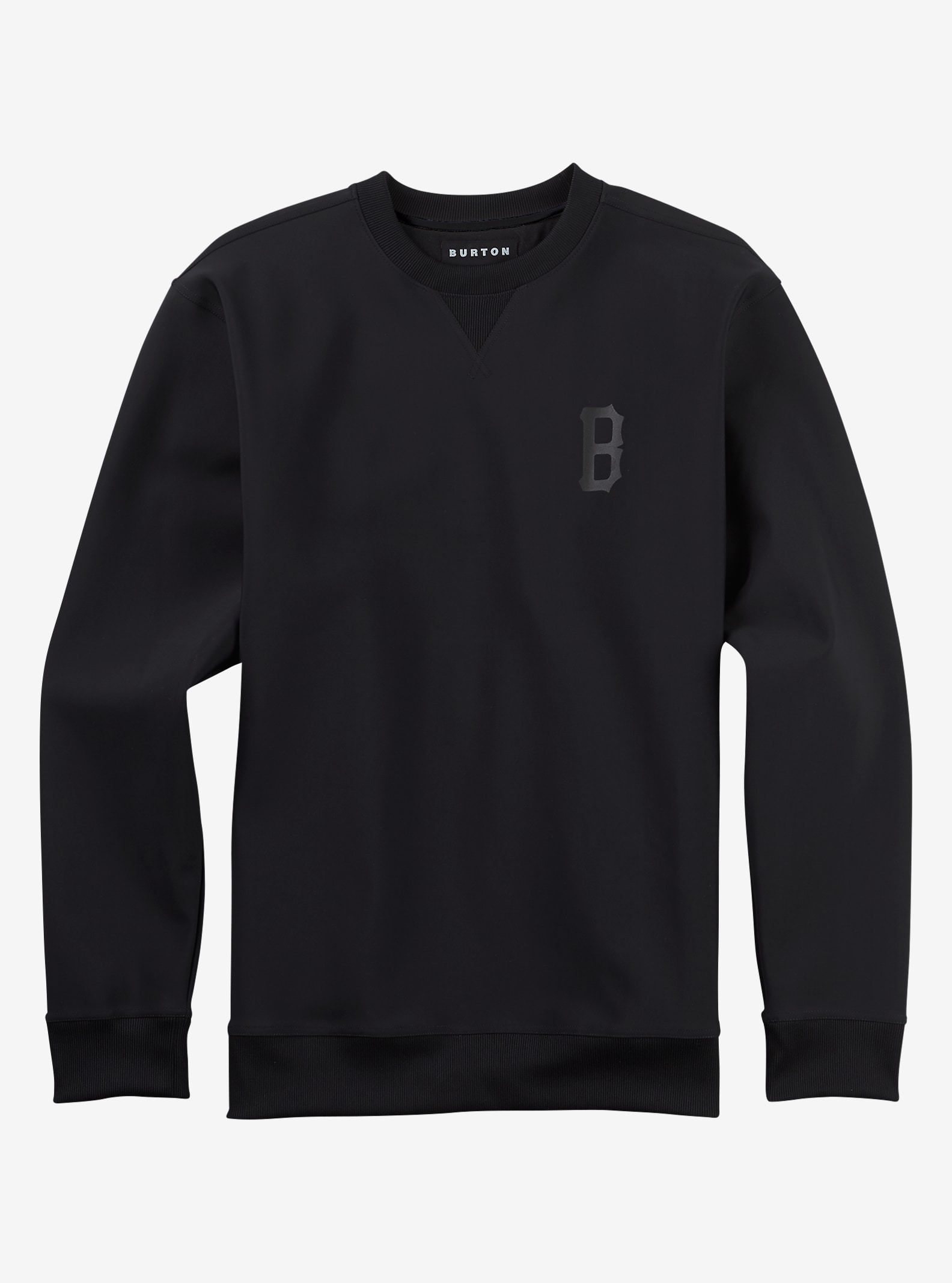 Black Scale x Burton Surrender Base Layer Crew shown in Black Scale Black