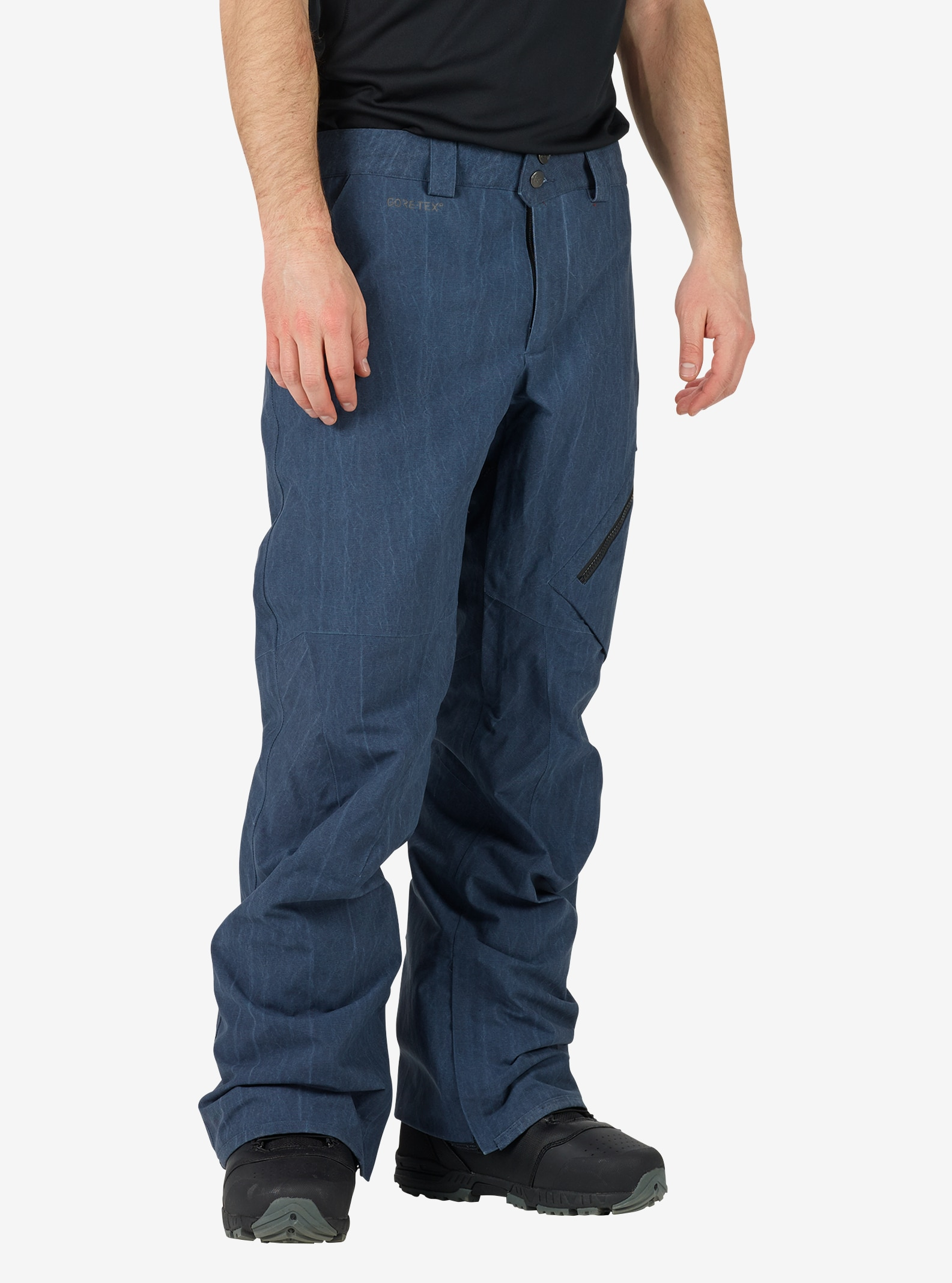 Men's Burton [ak] GORE‑TEX® 2L Cyclic Pant shown in Mood Indigo Vintage Wash