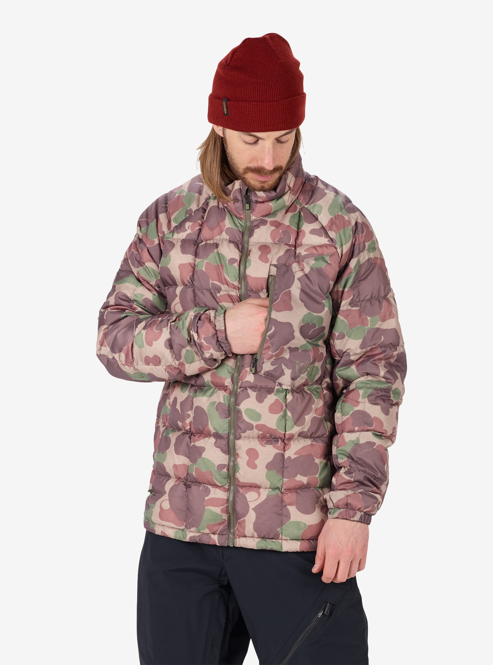 Men's Burton [ak] BK Down Insulator Jacket shown in Kodiak Camo