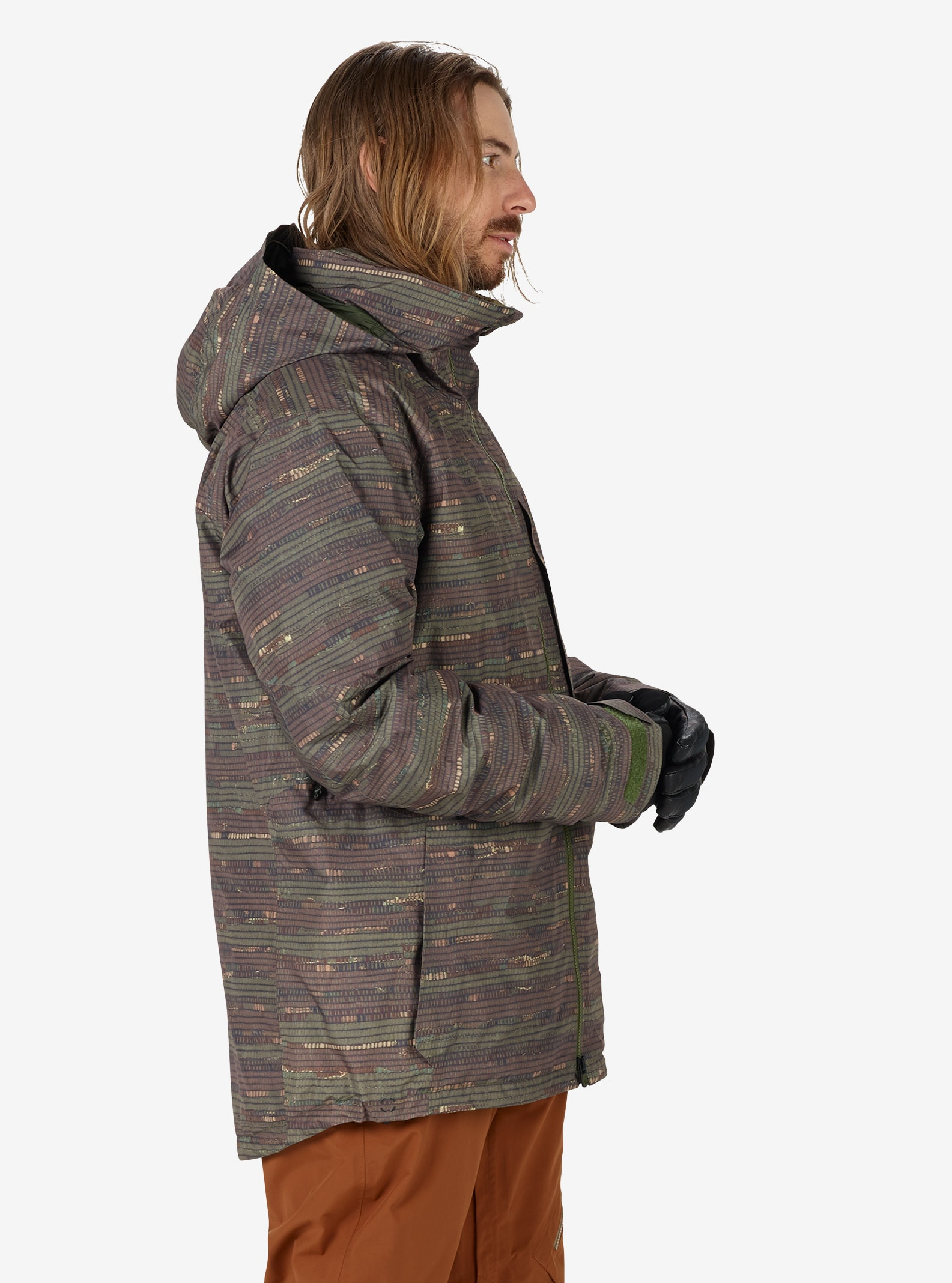 Men's Burton [ak] 2L LZ Down GORE‑TEX® Jacket shown in Shred Camo