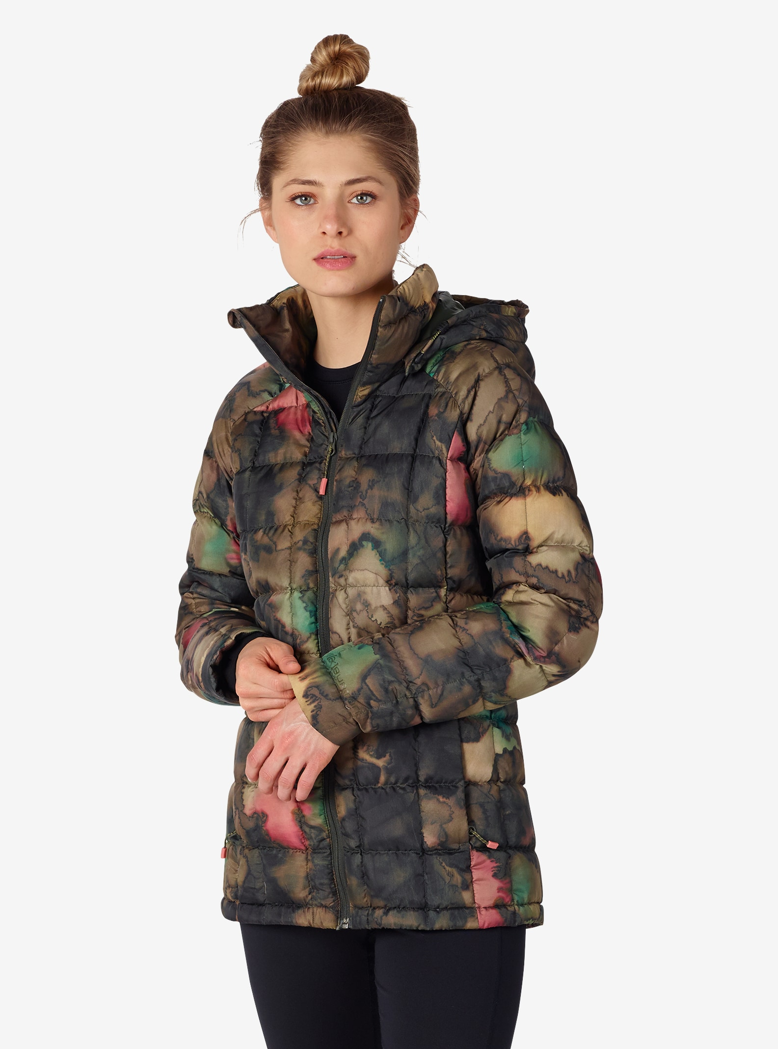 Women's Burton [ak] Baker Down Insulator Jacket shown in Tea Camo