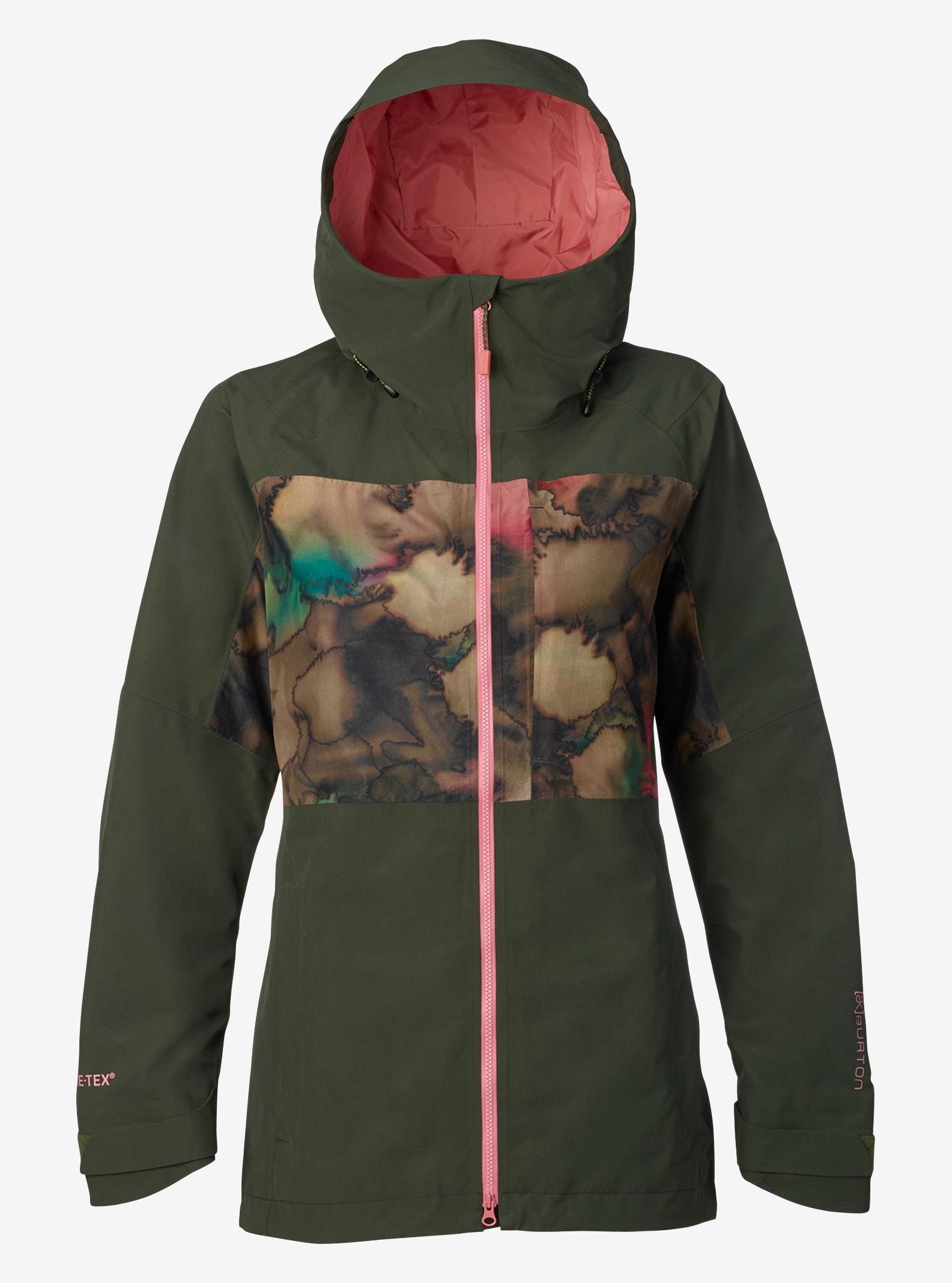 Women's Burton [ak] GORE‑TEX® 2L Blade Jacket shown in Forest Night / Tea Camo