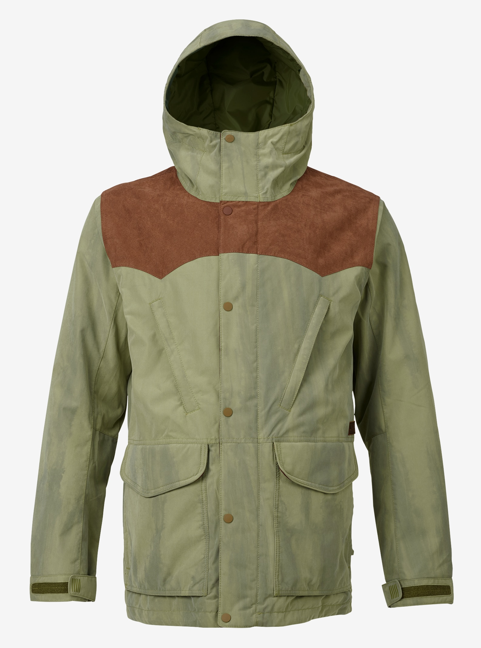 Men's Burton Folsom Jacket shown in Chestnut Suede / Olive Branch Distress