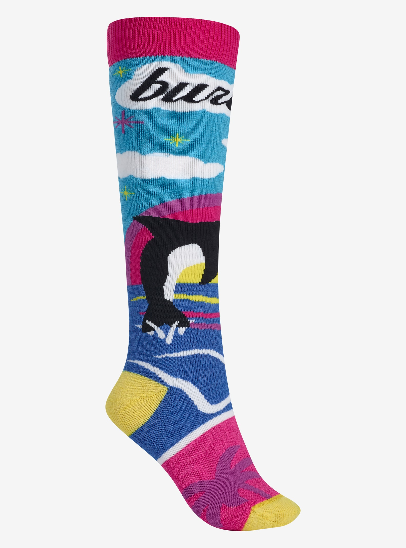 Women's Burton Party Sock shown in Beach Scene