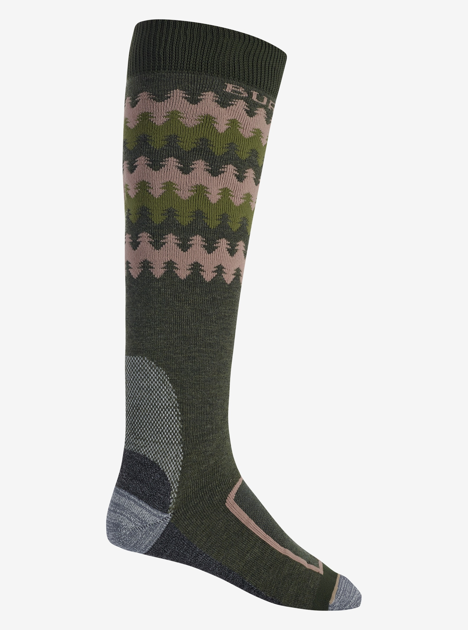 Men's Burton Buffer II Sock shown in Forest Night