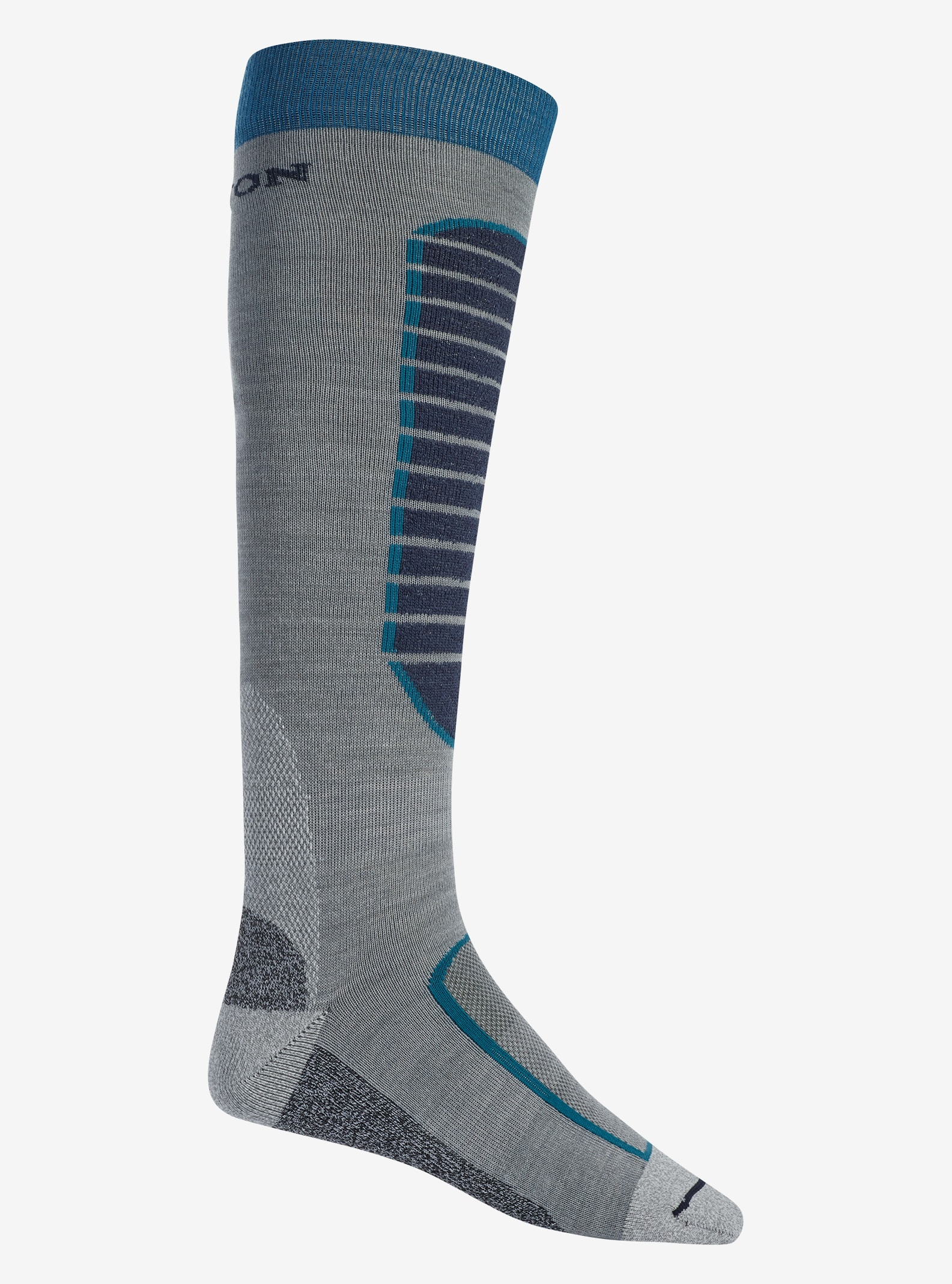 Men's Burton Merino Phase Sock shown in Monument Heather