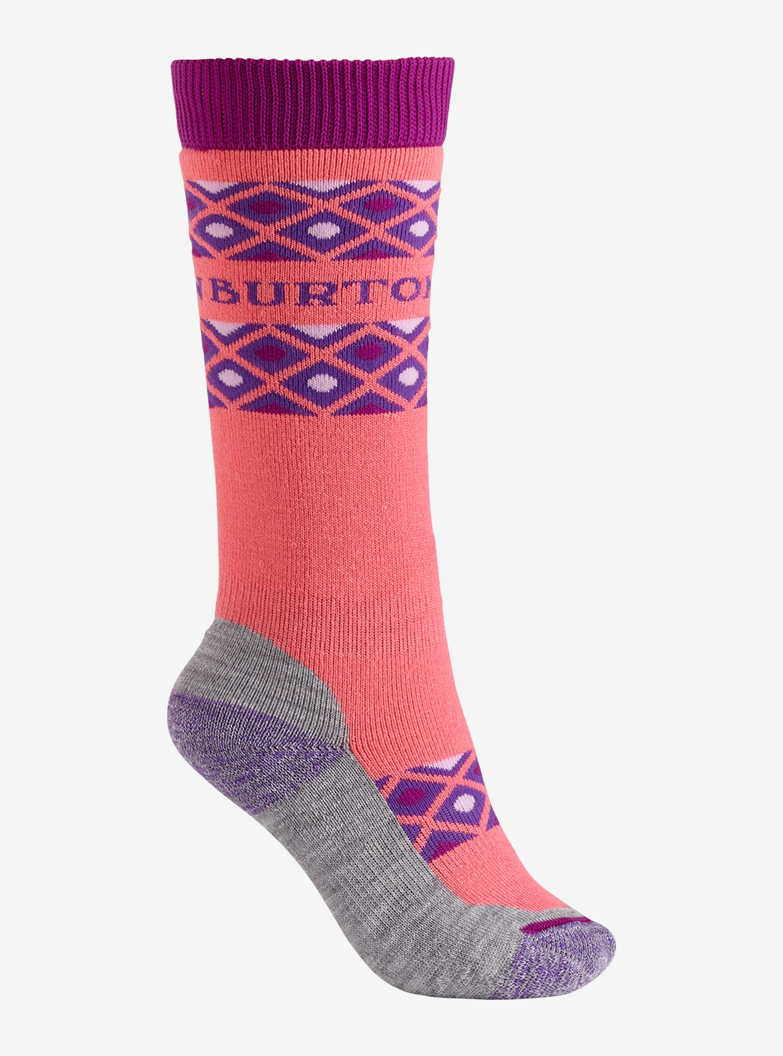 Girls' Burton Scout Sock shown in Georgia Peach