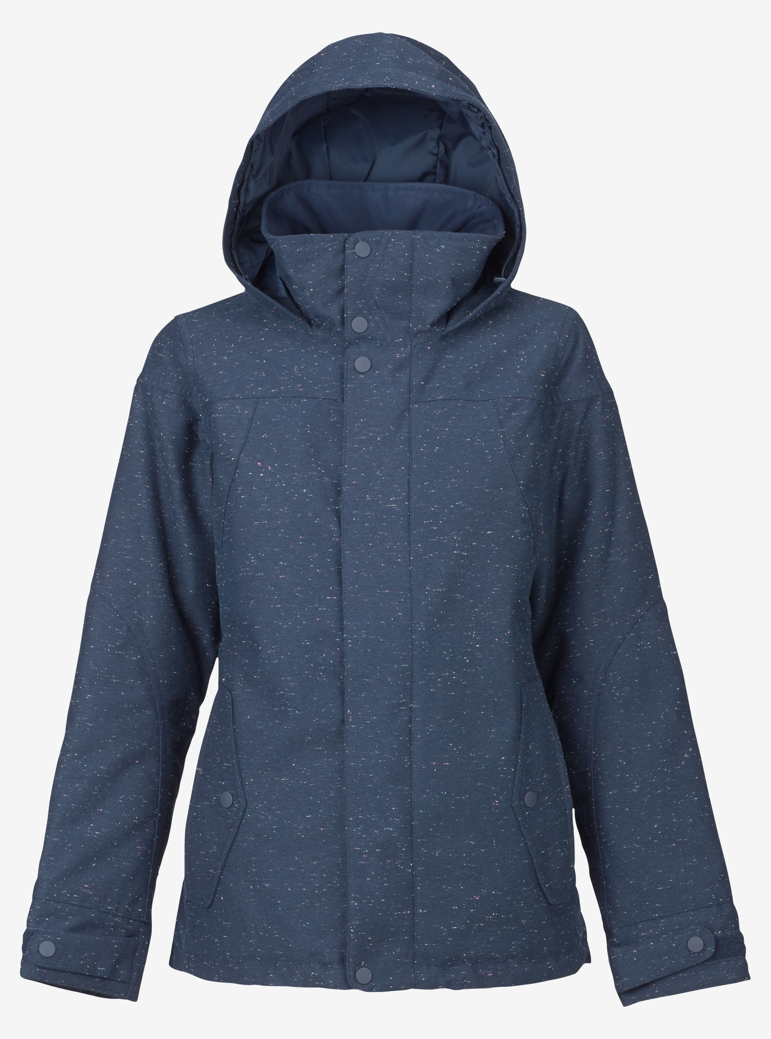 Women's Burton Jet Set Jacket shown in Mood Indigo Fleck