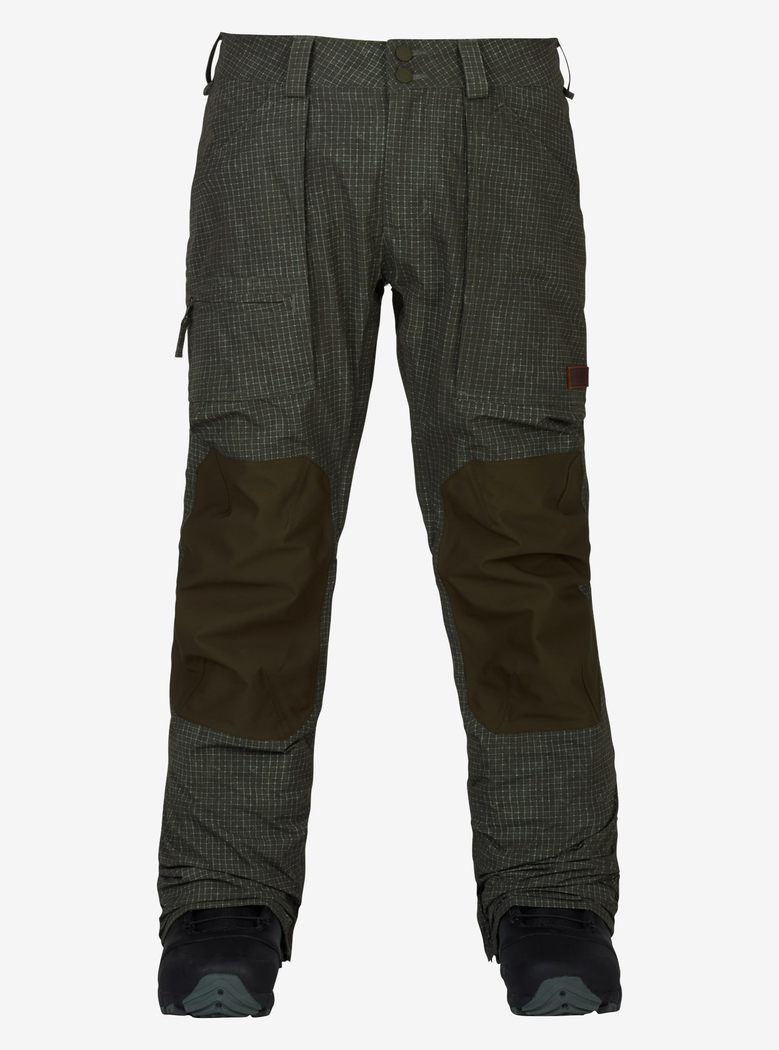 Men's Burton Southside Pant - Slim Fit shown in Forest Night Ripstop Texture / Forest Night