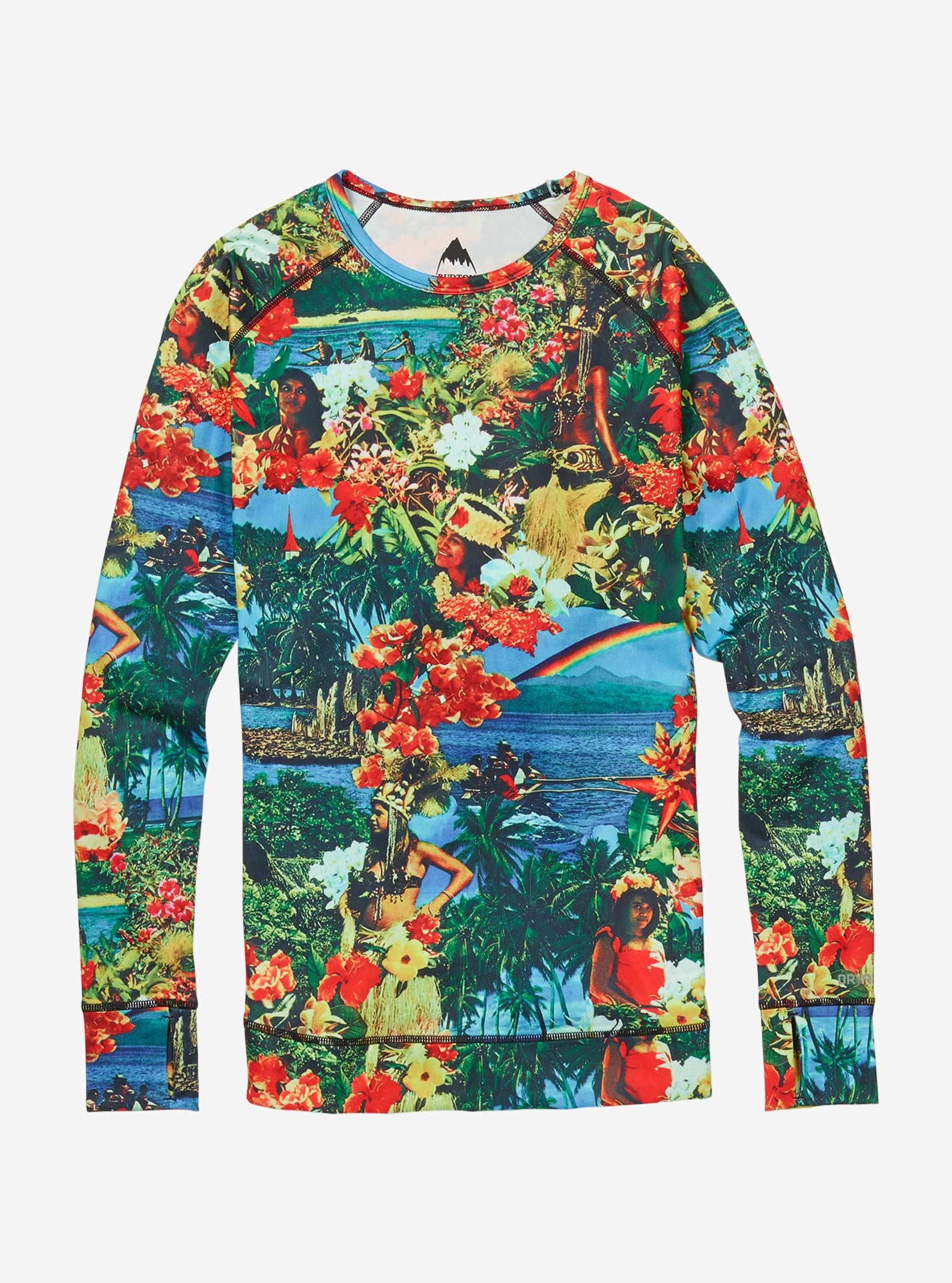 Women's Burton Base Layer Lightweight Crew shown in Maui Wowie