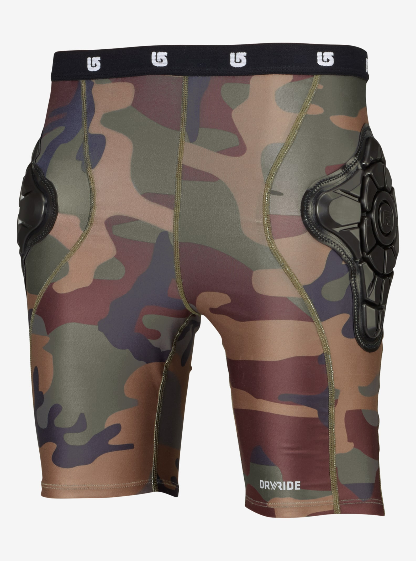 Kids' Burton Total Impact Short, Protected by G-Form™ shown in Highland Camo