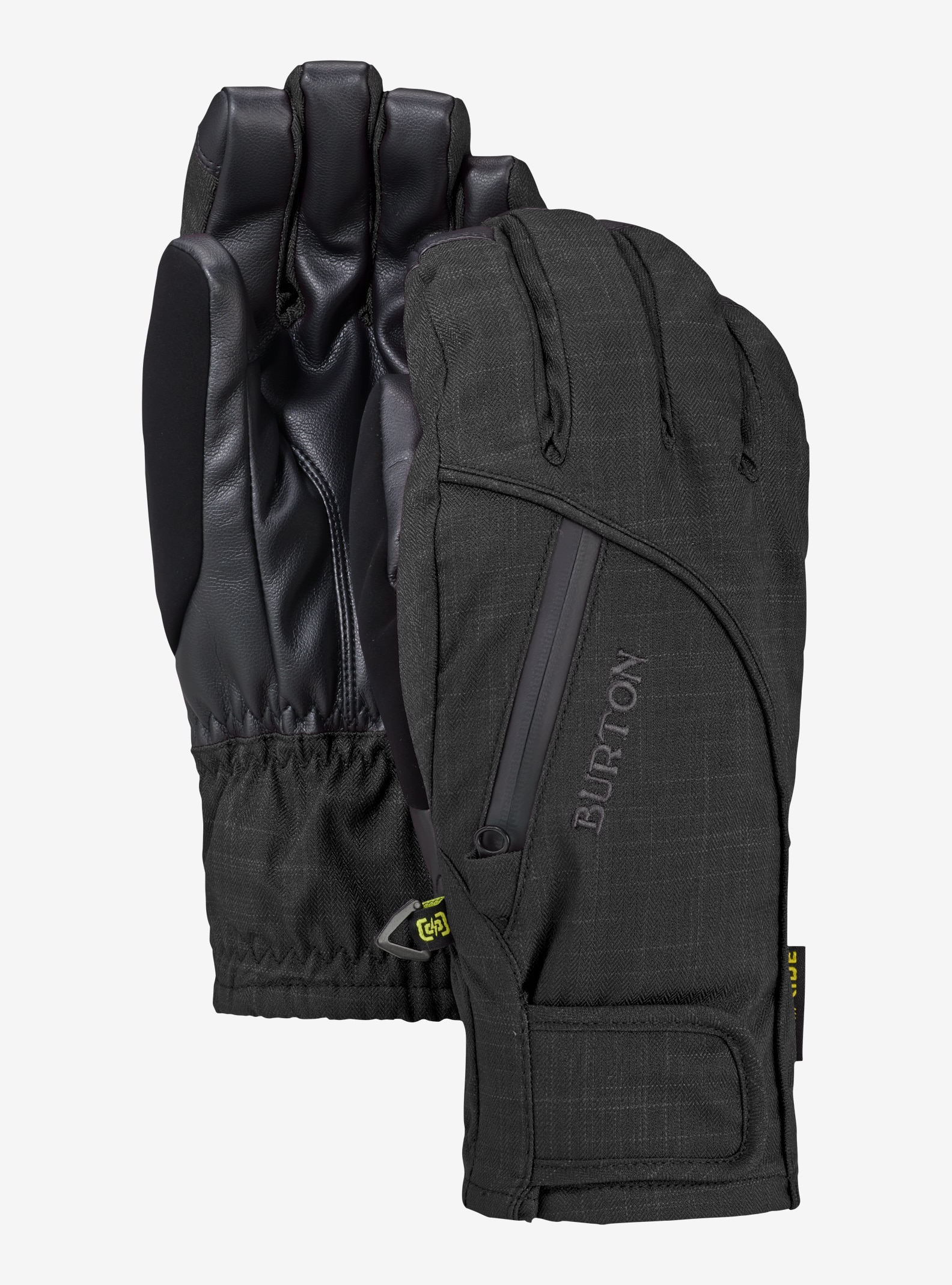 Women's Burton Women's Baker 2-In-1 Under Glove shown in True Black