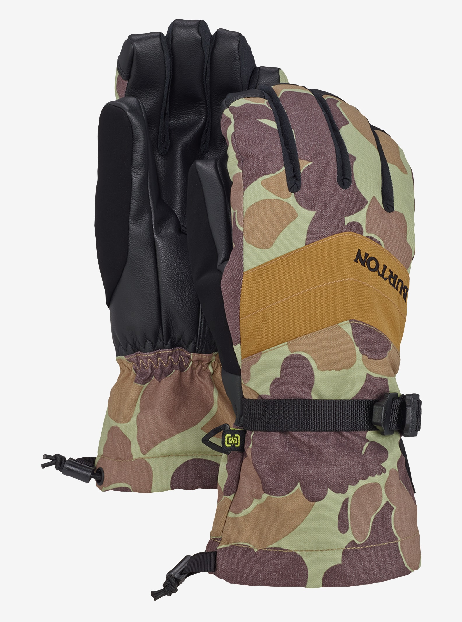 Women's Burton Prospect Glove shown in Bean Camo / Dull Gold