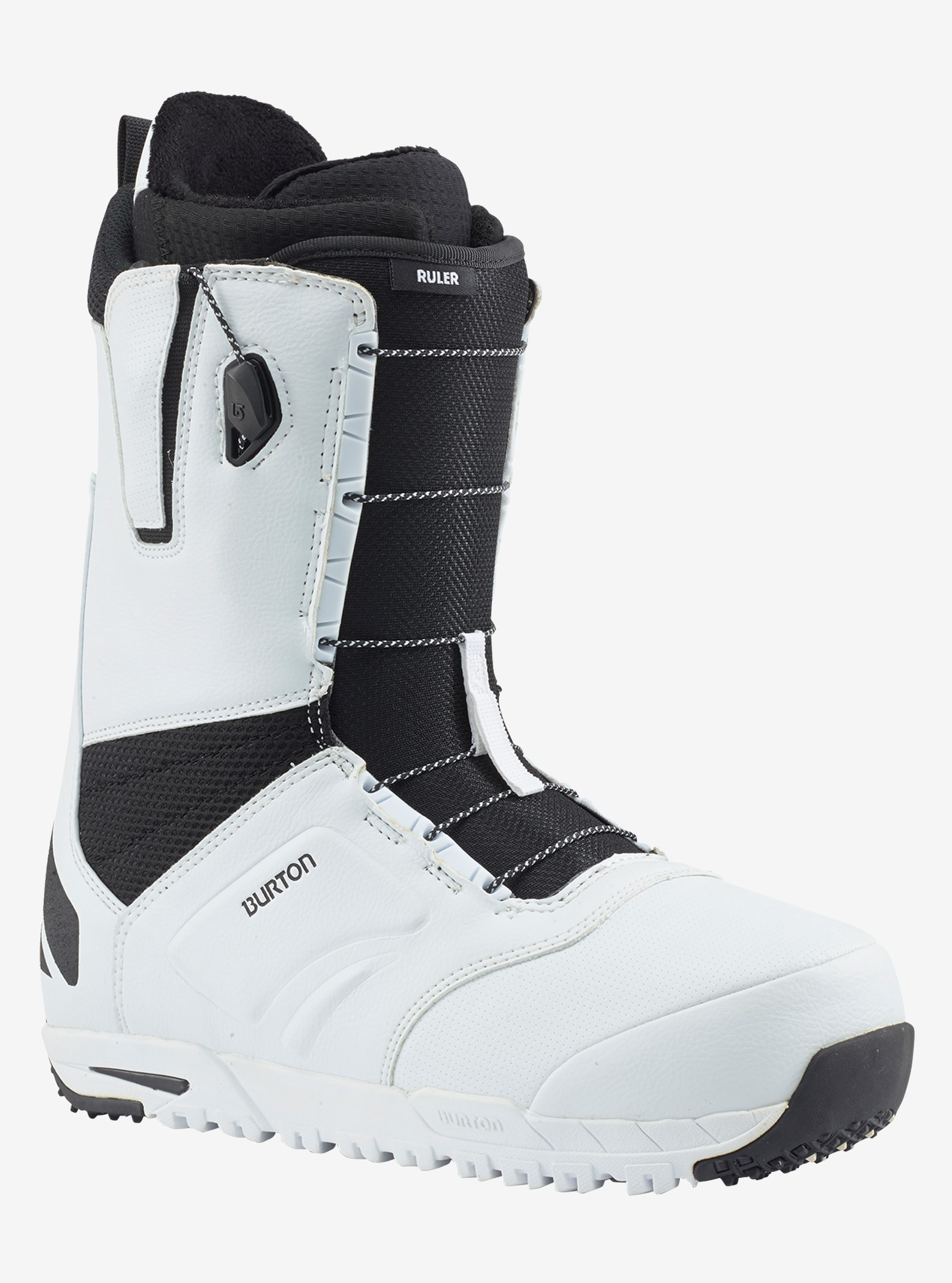 Men's Burton Ruler Snowboard Boot shown in White / Black