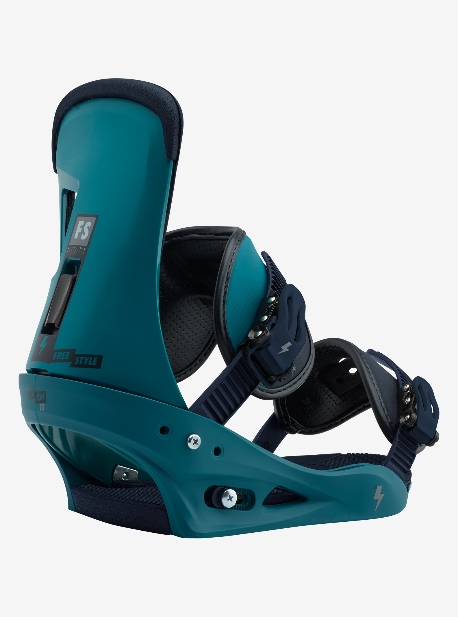 Men's Burton Freestyle Snowboard Binding shown in Mariner Green