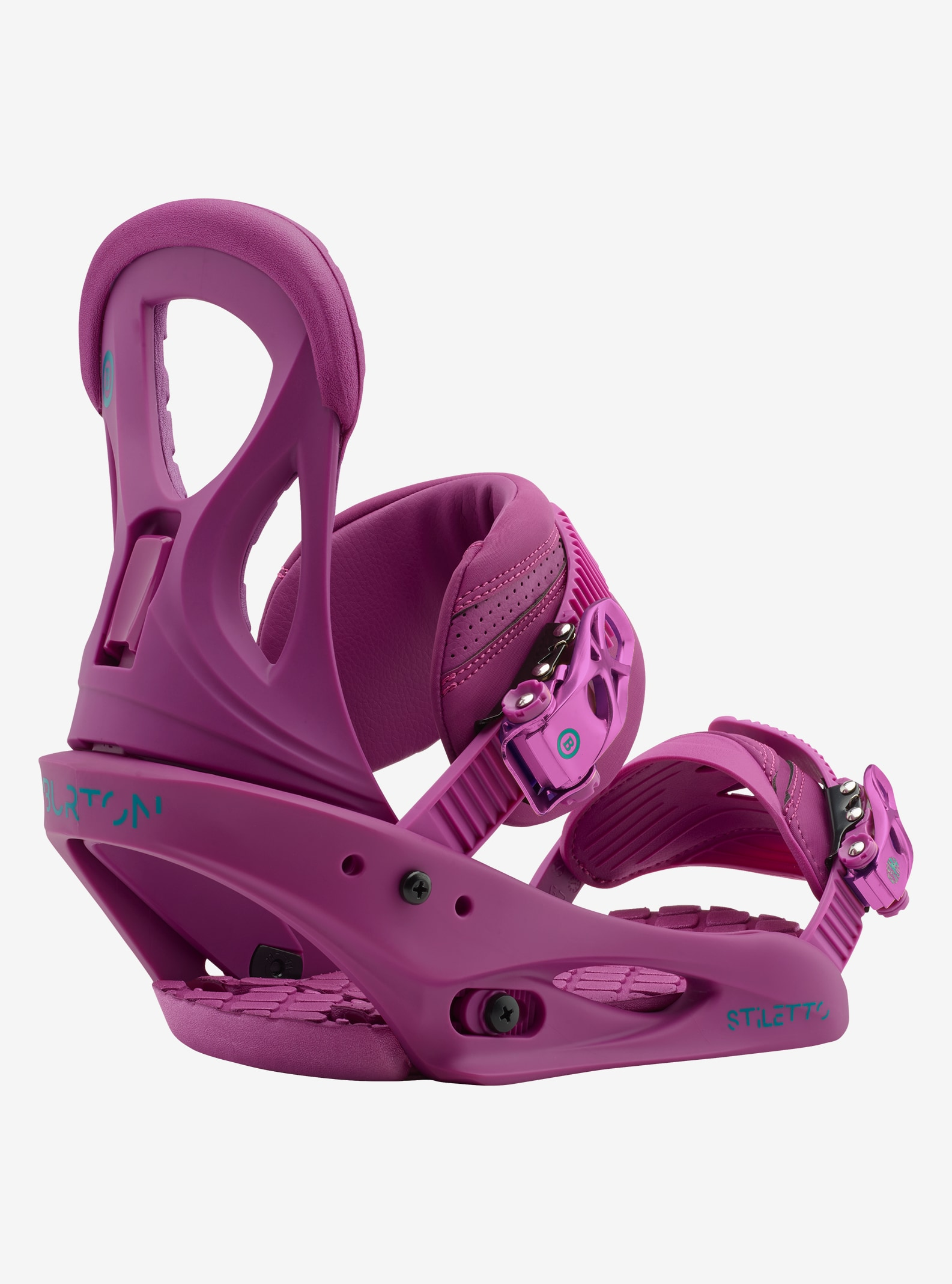 Women's Burton Stiletto Snowboard Binding shown in Hot Purple