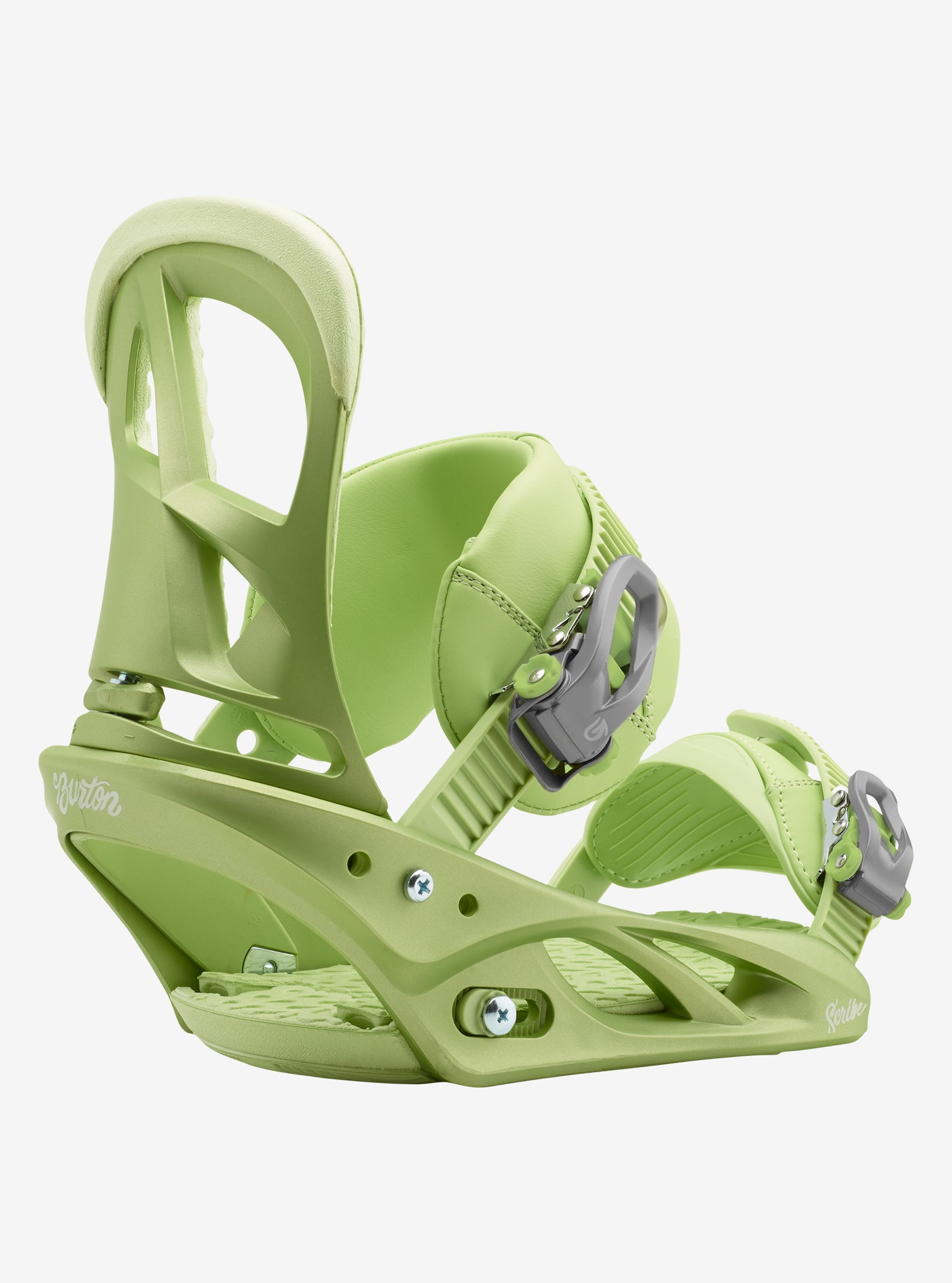 Women's Burton Scribe Snowboard Binding shown in Ivy