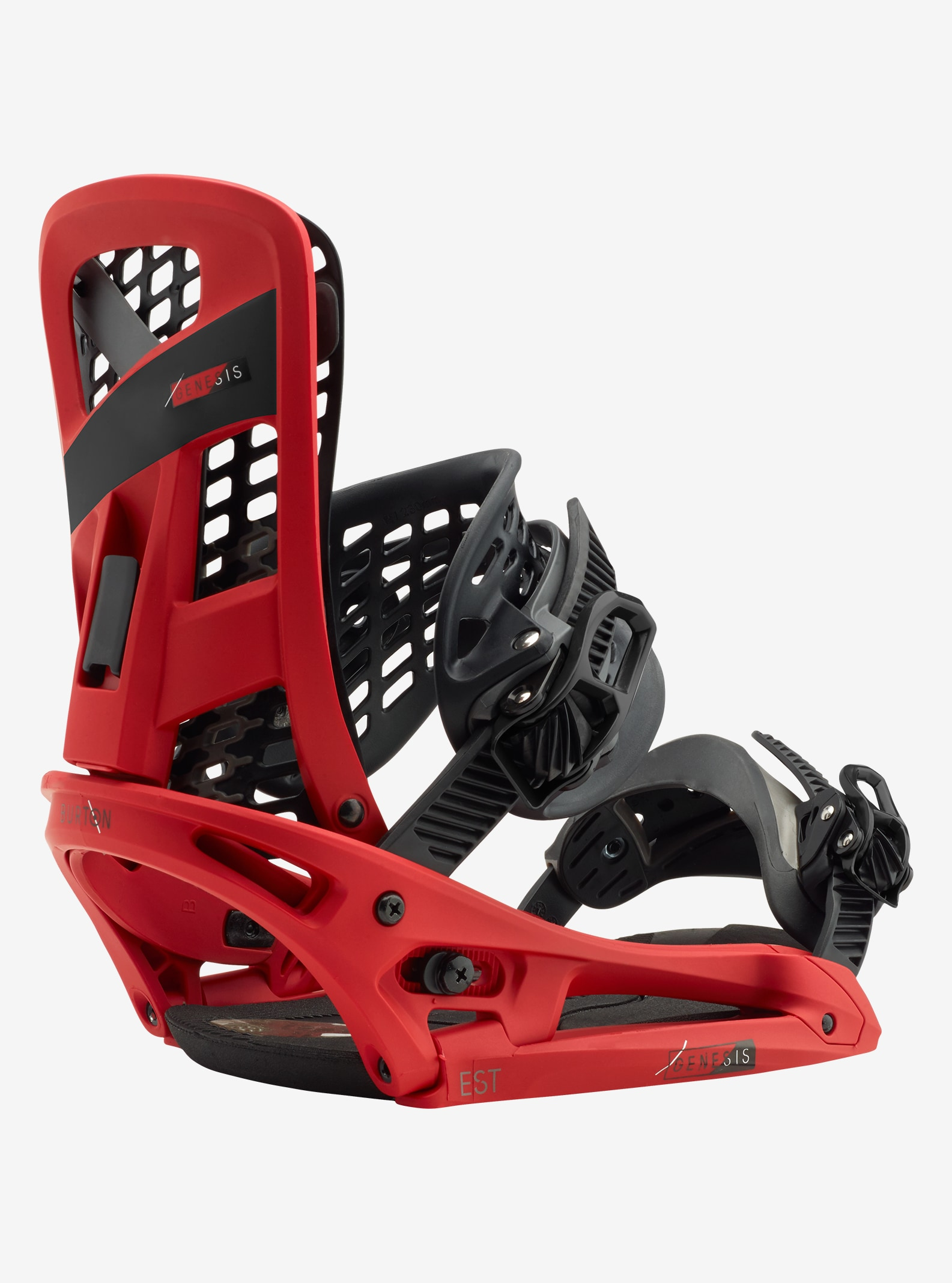 Men's Burton Genesis EST Snowboard Binding shown in Red Prophecy