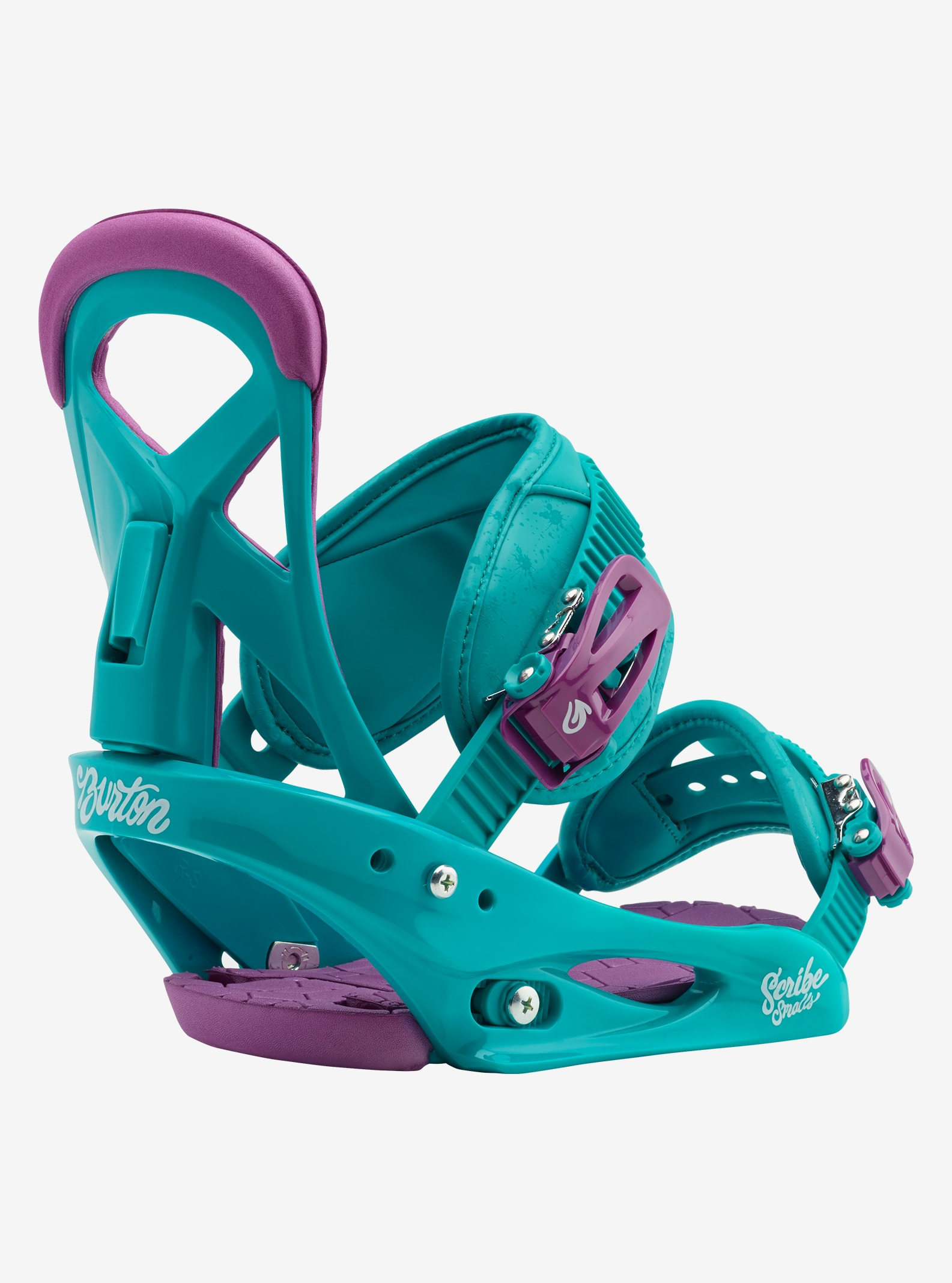 Girls' Burton Scribe Smalls Snowboard Binding shown in Frostberry